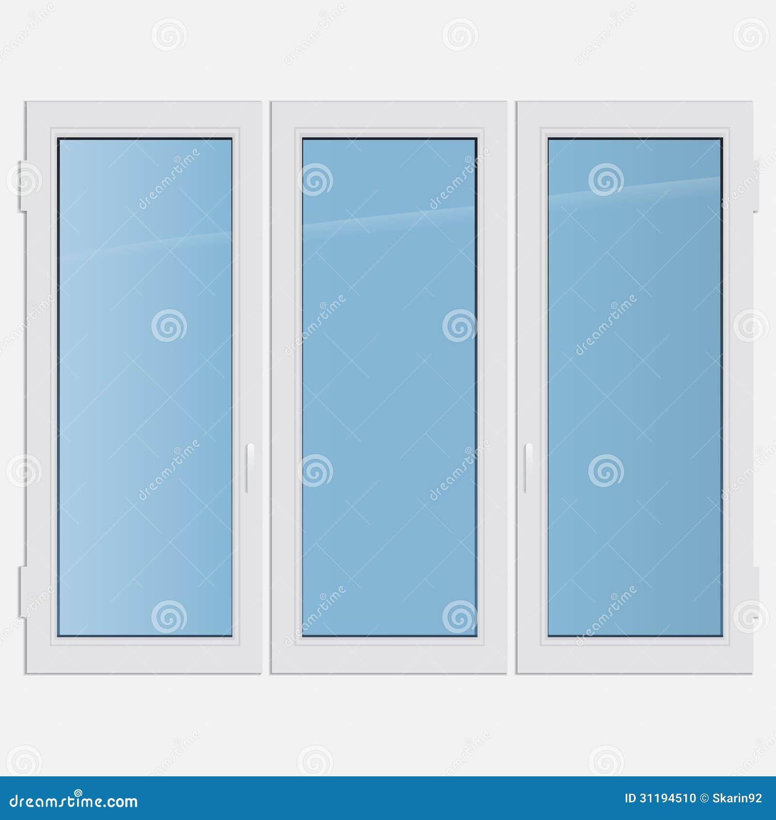fen tre triple de plastique de tissu pour rideaux photo