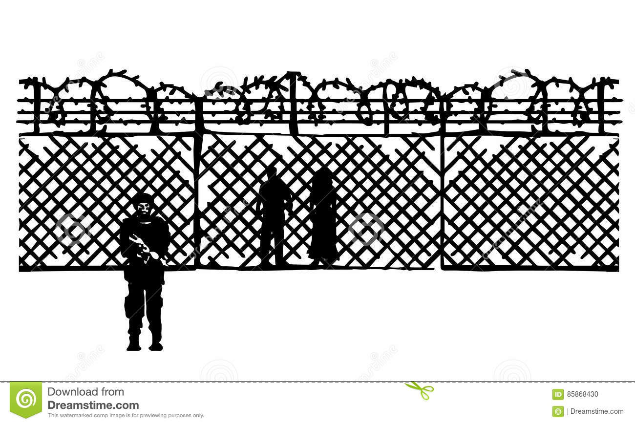 Awesome Barbed Wire Border Illustration - Electrical Circuit Diagram ...
