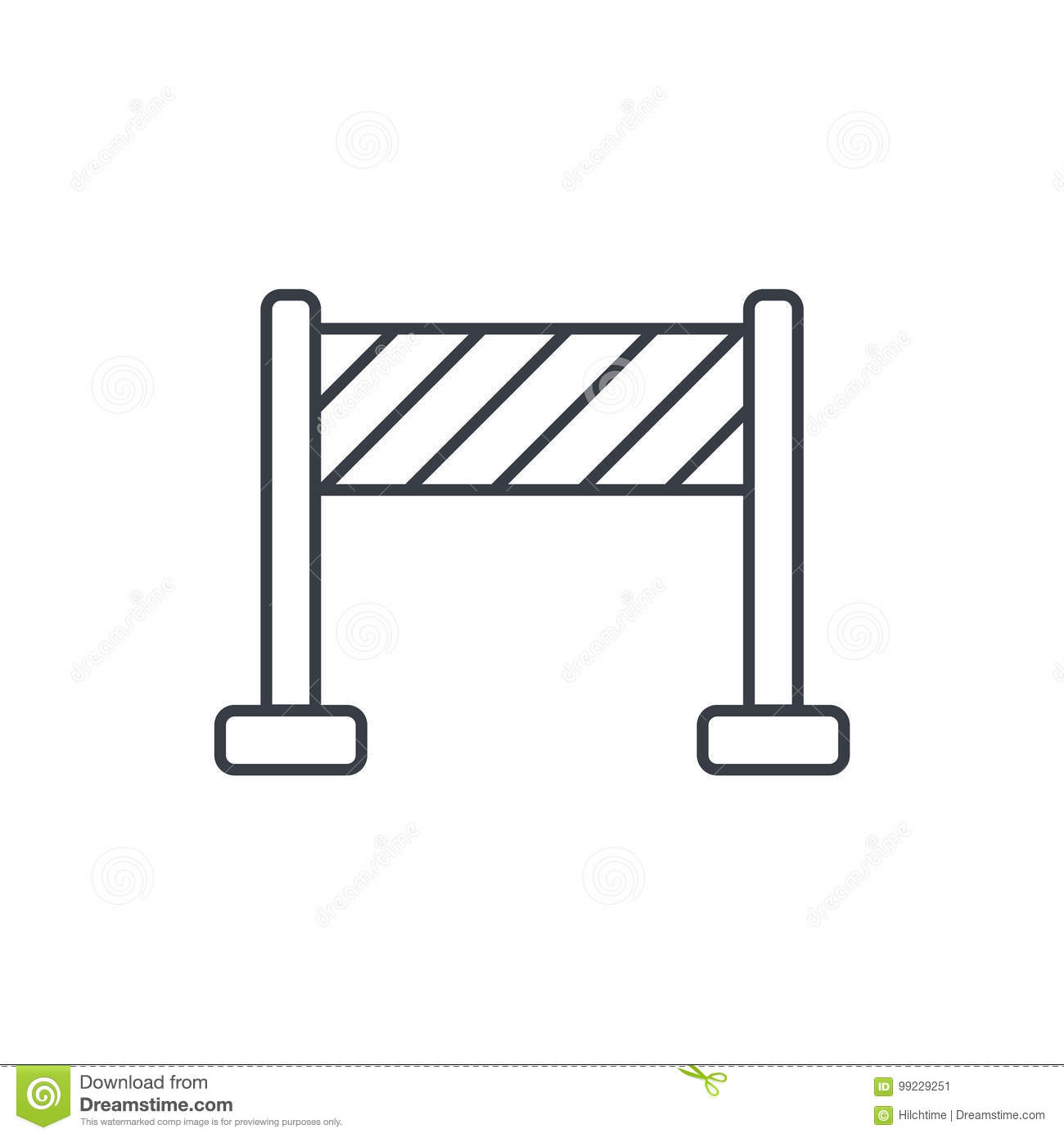 Fence construction thin line icon. Linear vector symbol