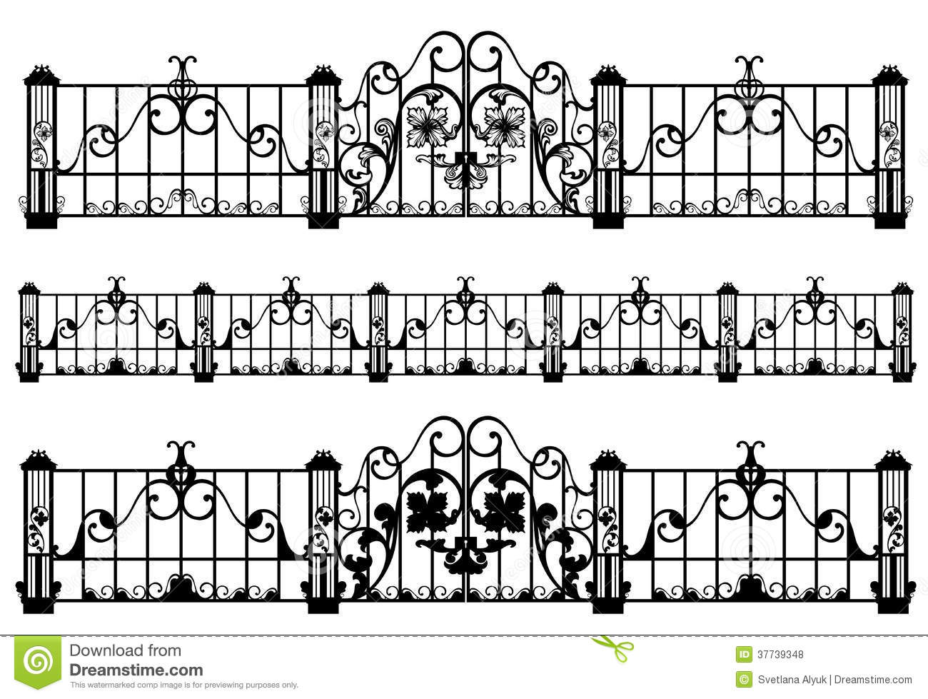 Fence And Gate Vector Stock Vector Image Of Craft Gates