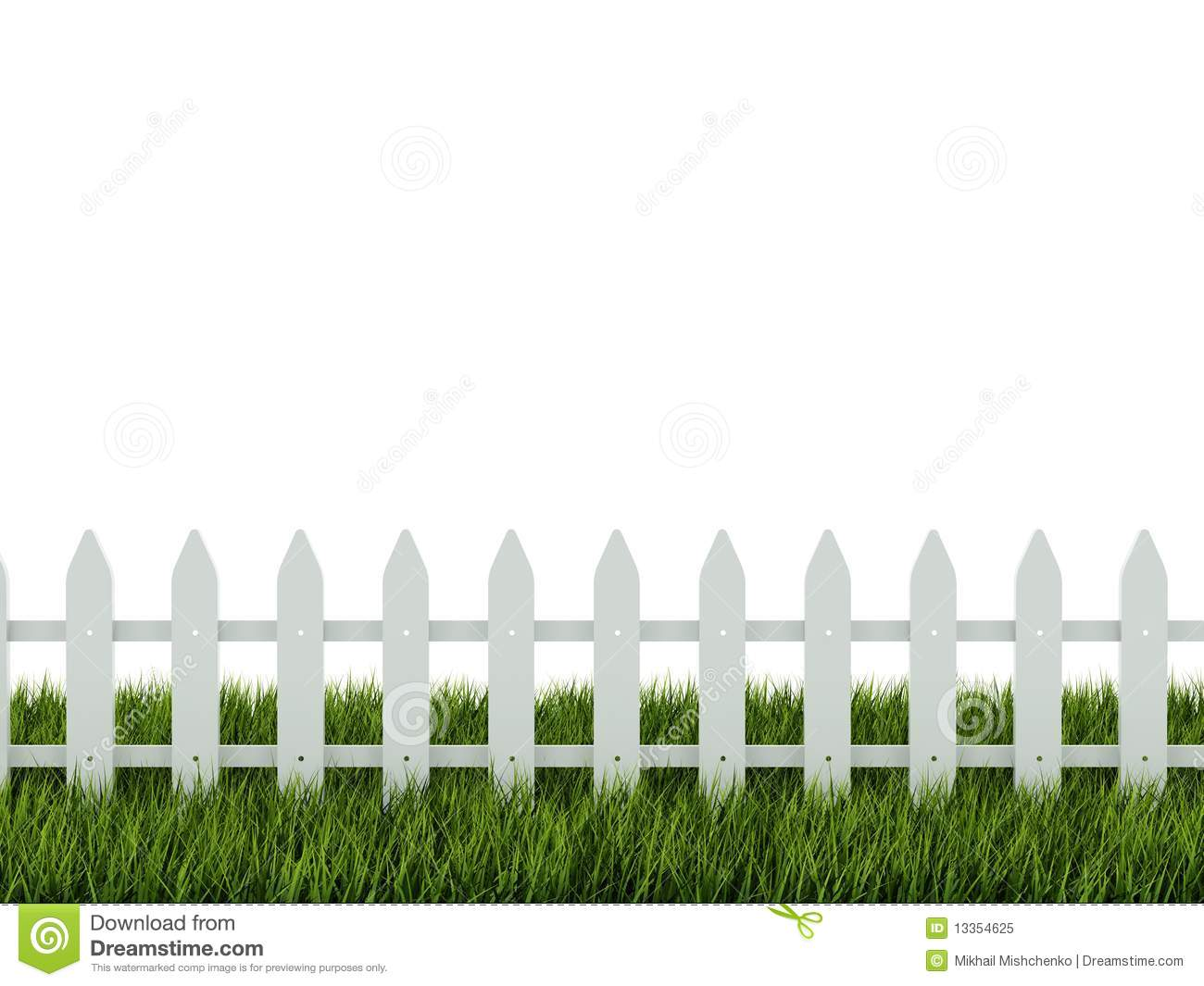 fence on grass royalty free stock photo image 13354625