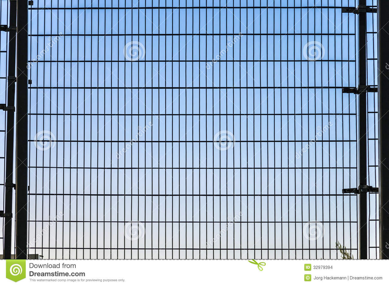fence with grid structure with blue stock photo image of pattern
