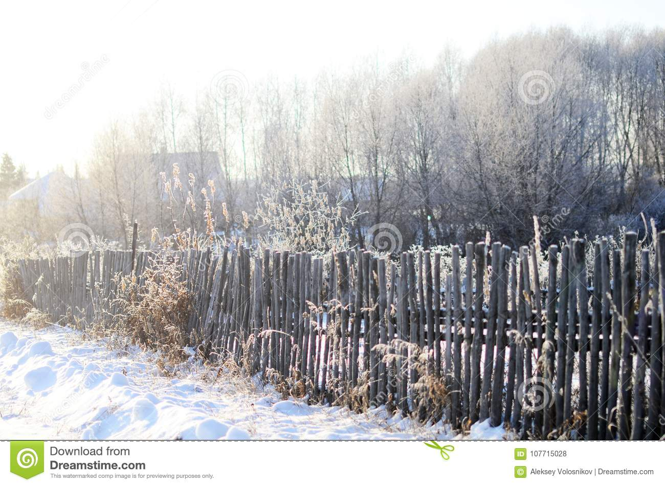 A fence made of wooden twigs