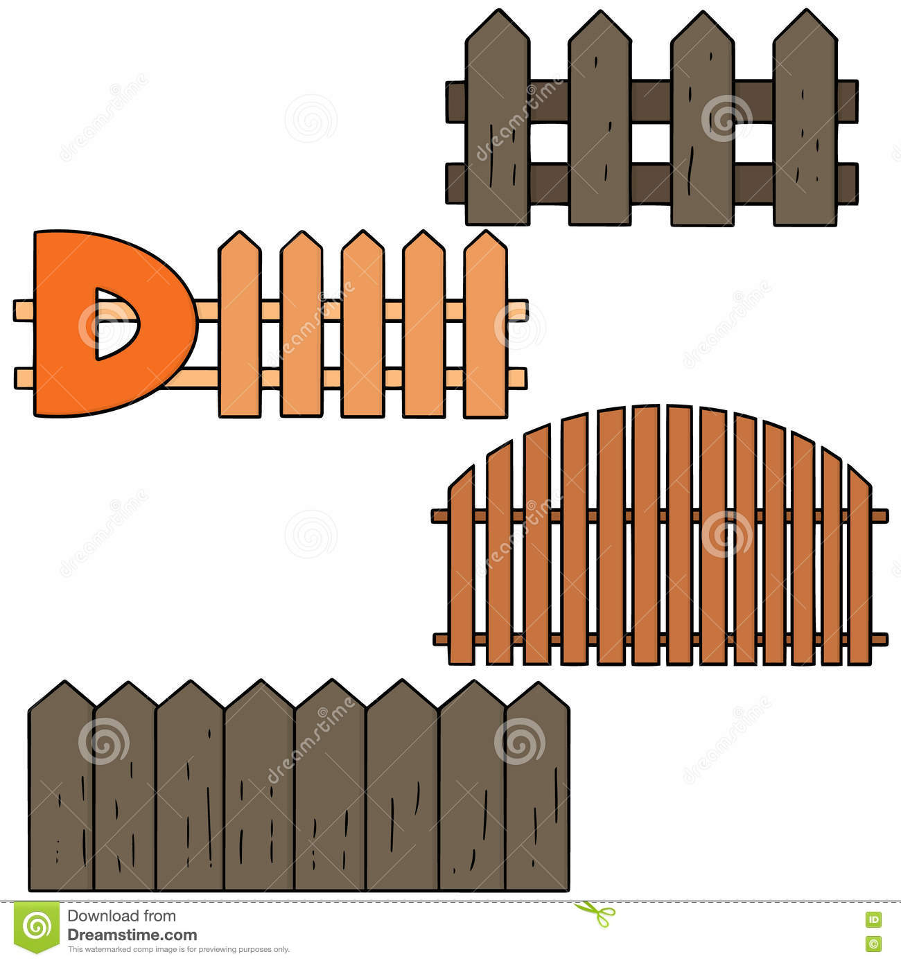 Fence stock vector image
