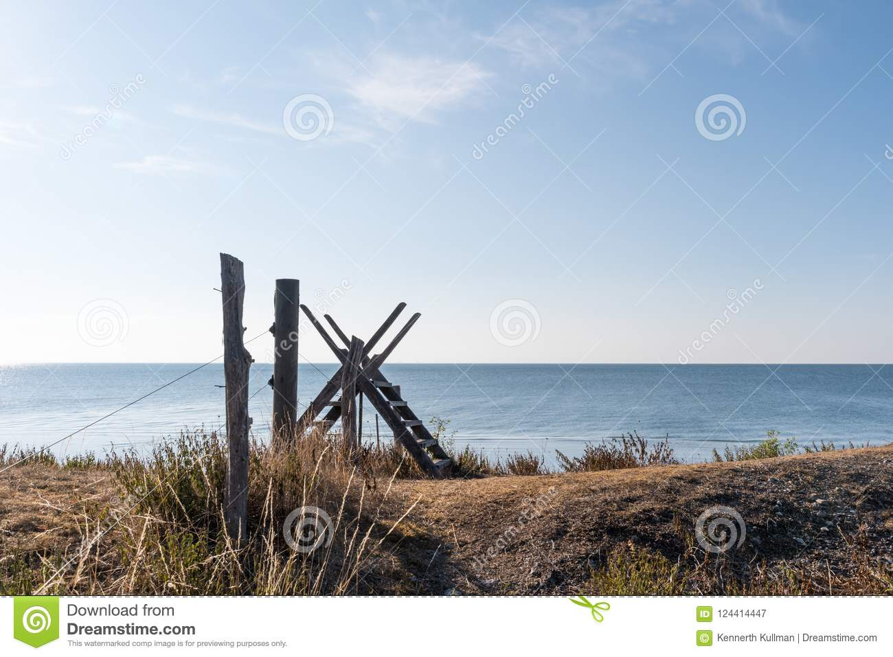 Fence with a wooden stile