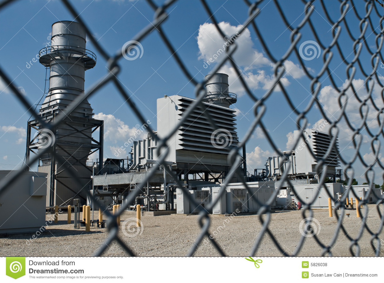 Fenced-in Power Station