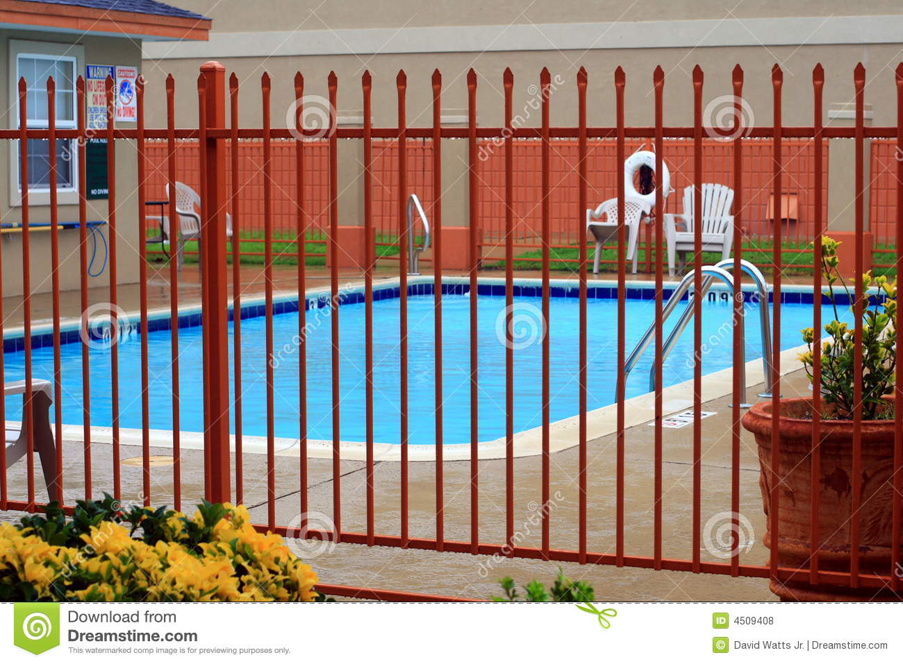 Fenced Swimming Pool Stock Photo Image Of Playing Gate 4509408