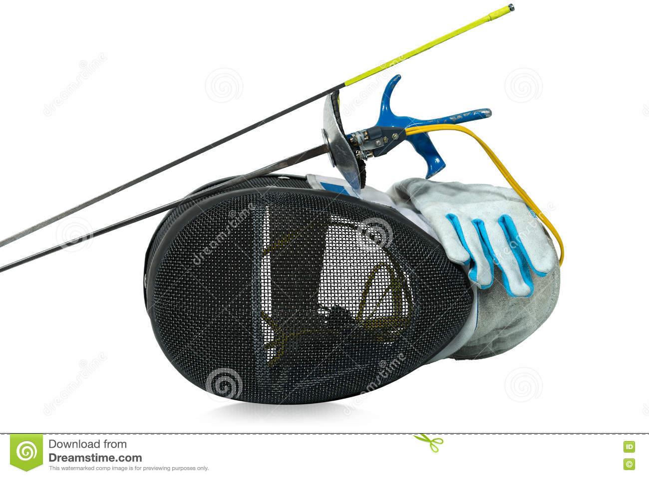 Fencing Foil Equipment Isolated On White Stock Photo ...