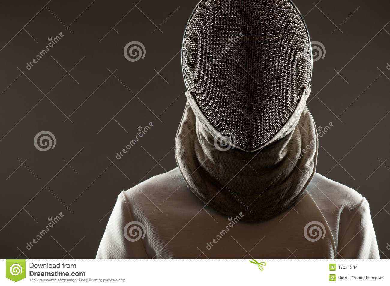 Fencing Mask Stock Photo Image Of Uniform Warrior Space