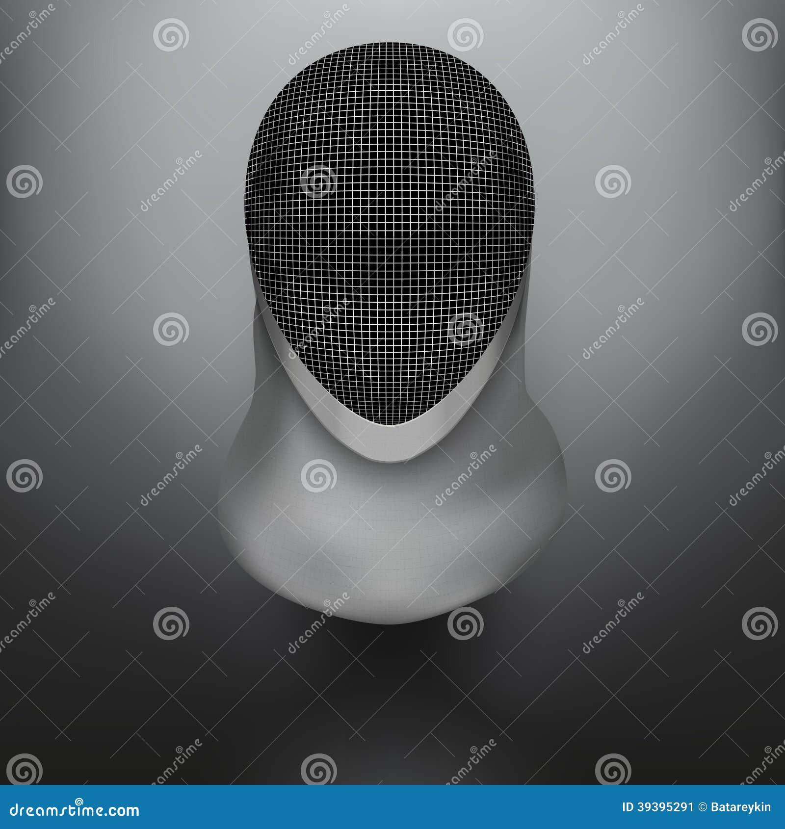 Fencing Mask Vector Background Illustration Stock Vector ...