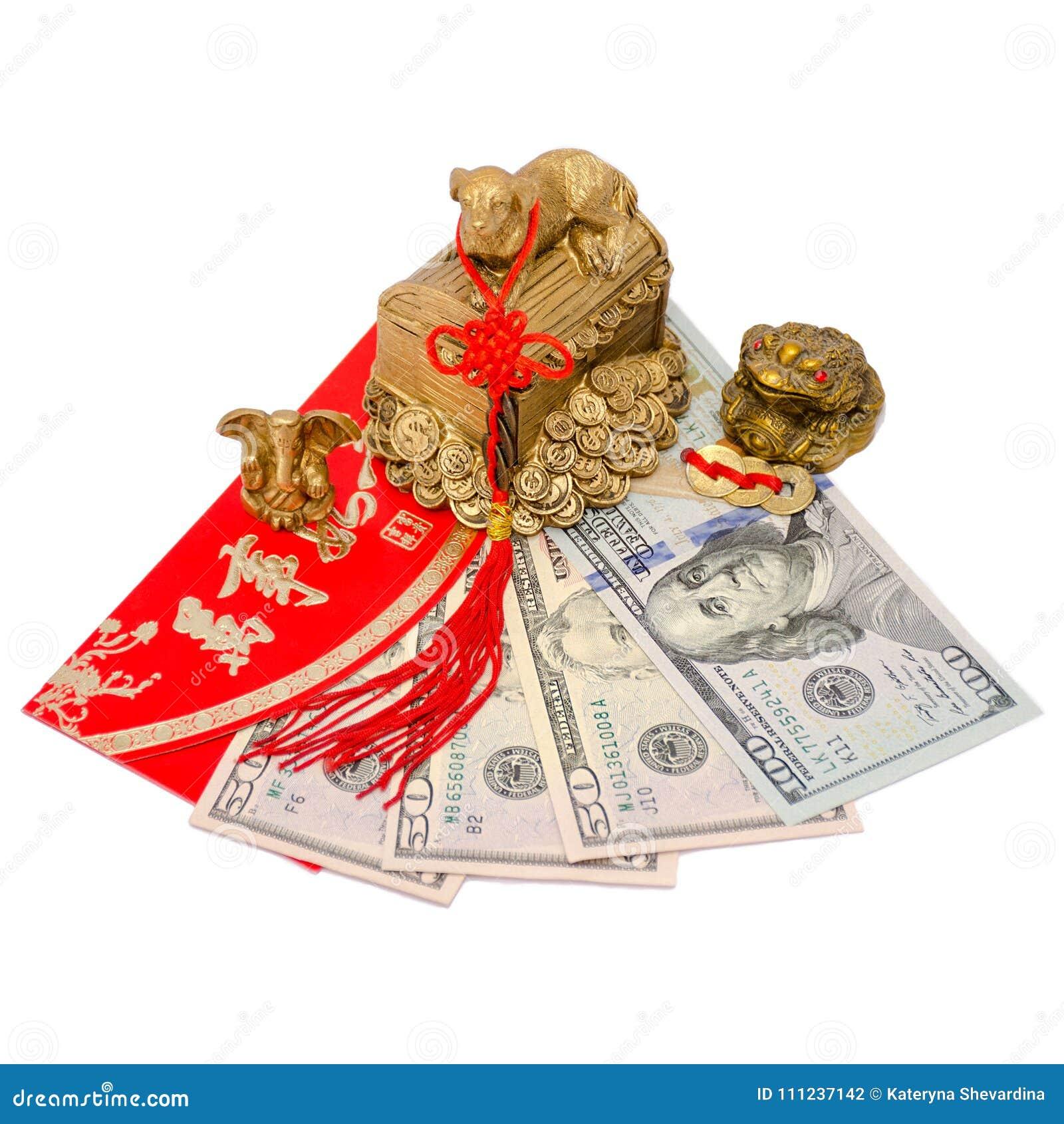 Feng Shui amuletter som tilldrar pengar och en lyckad affär