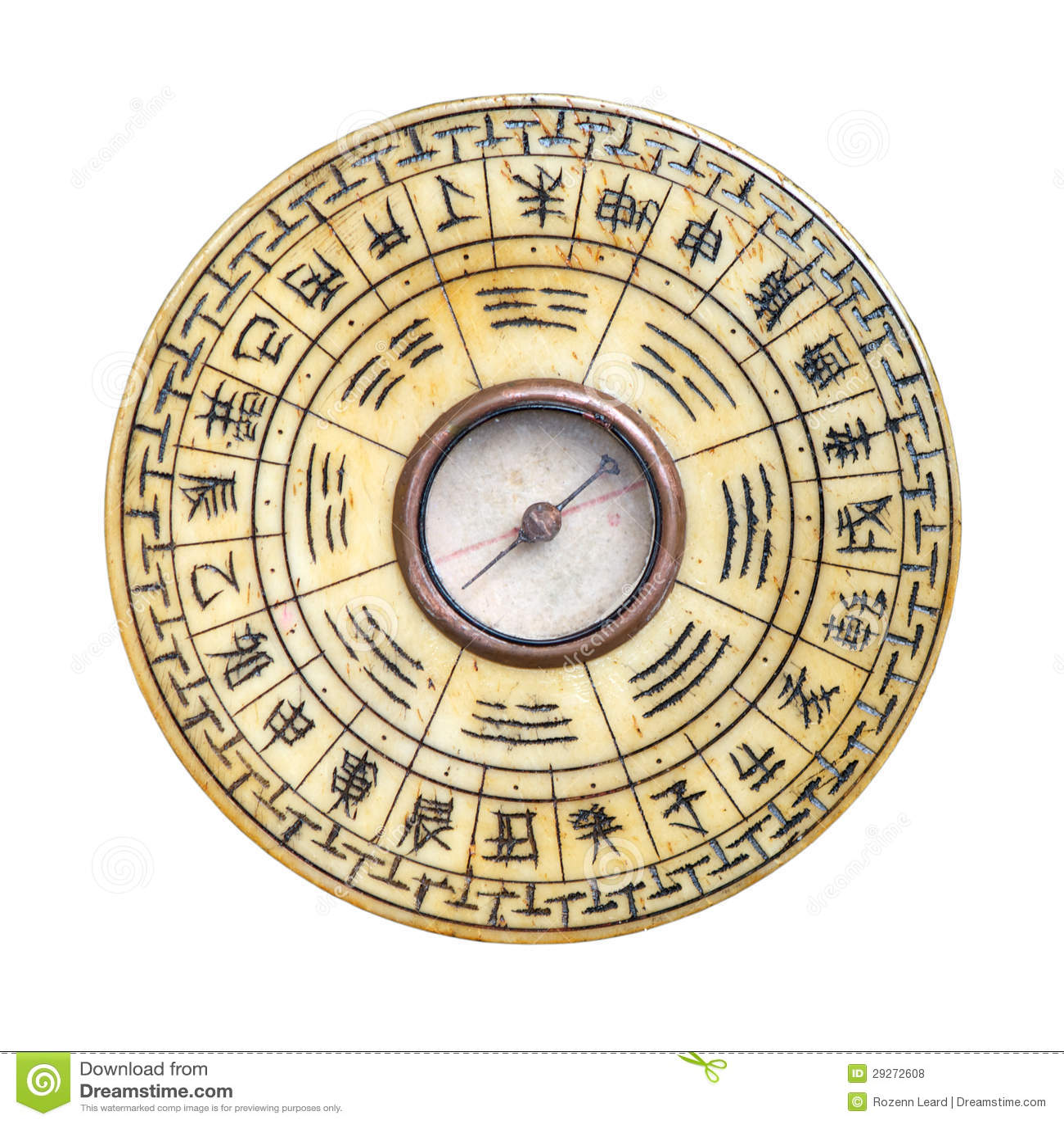 feng shui kompass getrennt stockfoto bild von trigrams 29272608. Black Bedroom Furniture Sets. Home Design Ideas