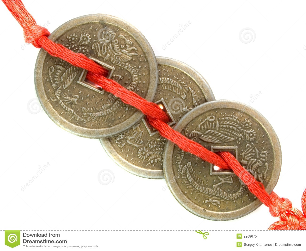 Feng shui lucky coins royalty free stock photo image 2208675 for Photos feng shui