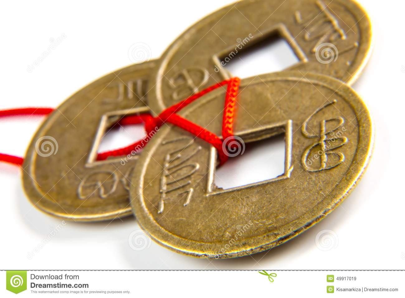 Feng shui lucky coins stock image. Image of golden, bronze ... - photo#33