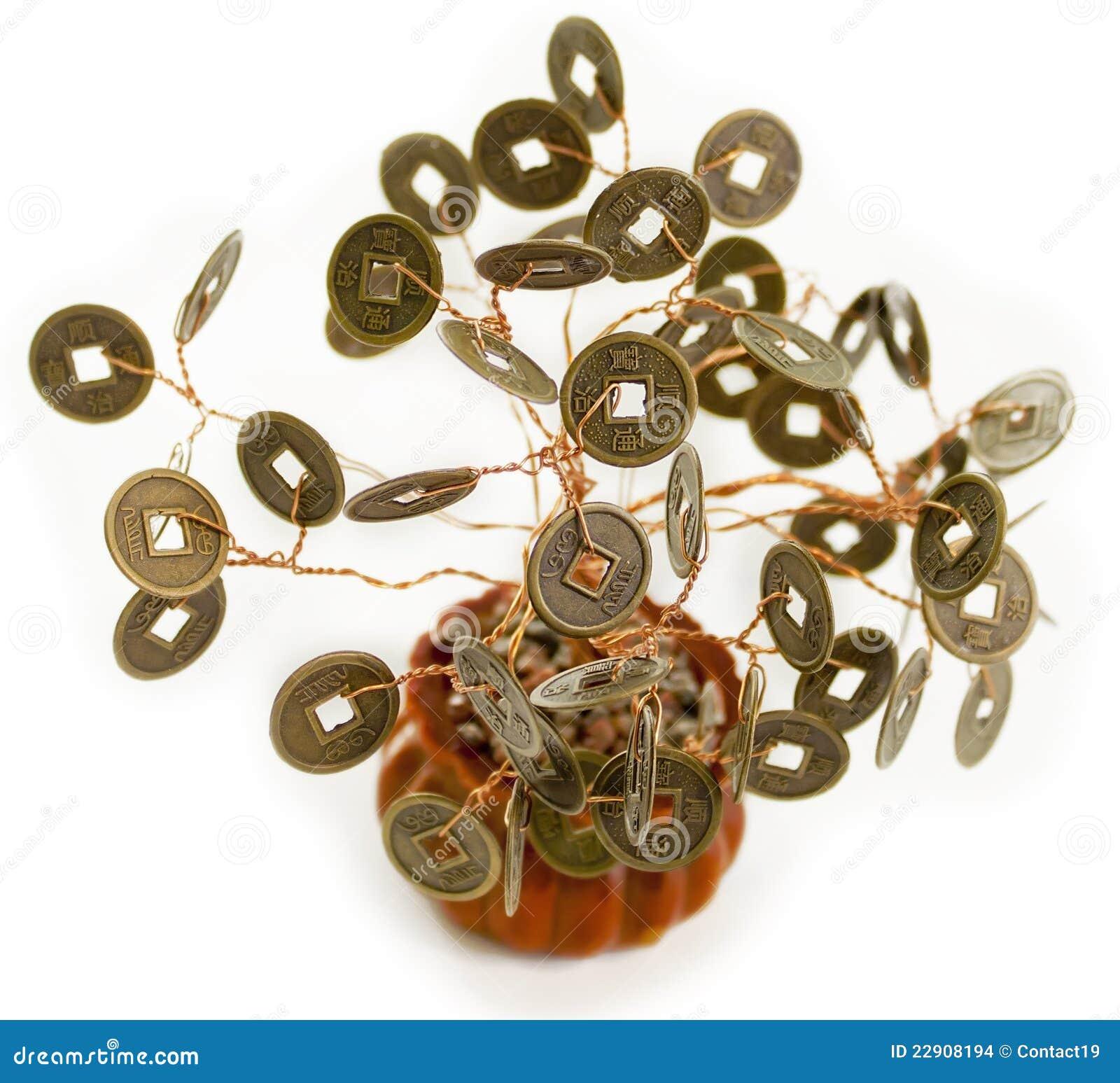 feng shui money tree stock images image 22908194. Black Bedroom Furniture Sets. Home Design Ideas