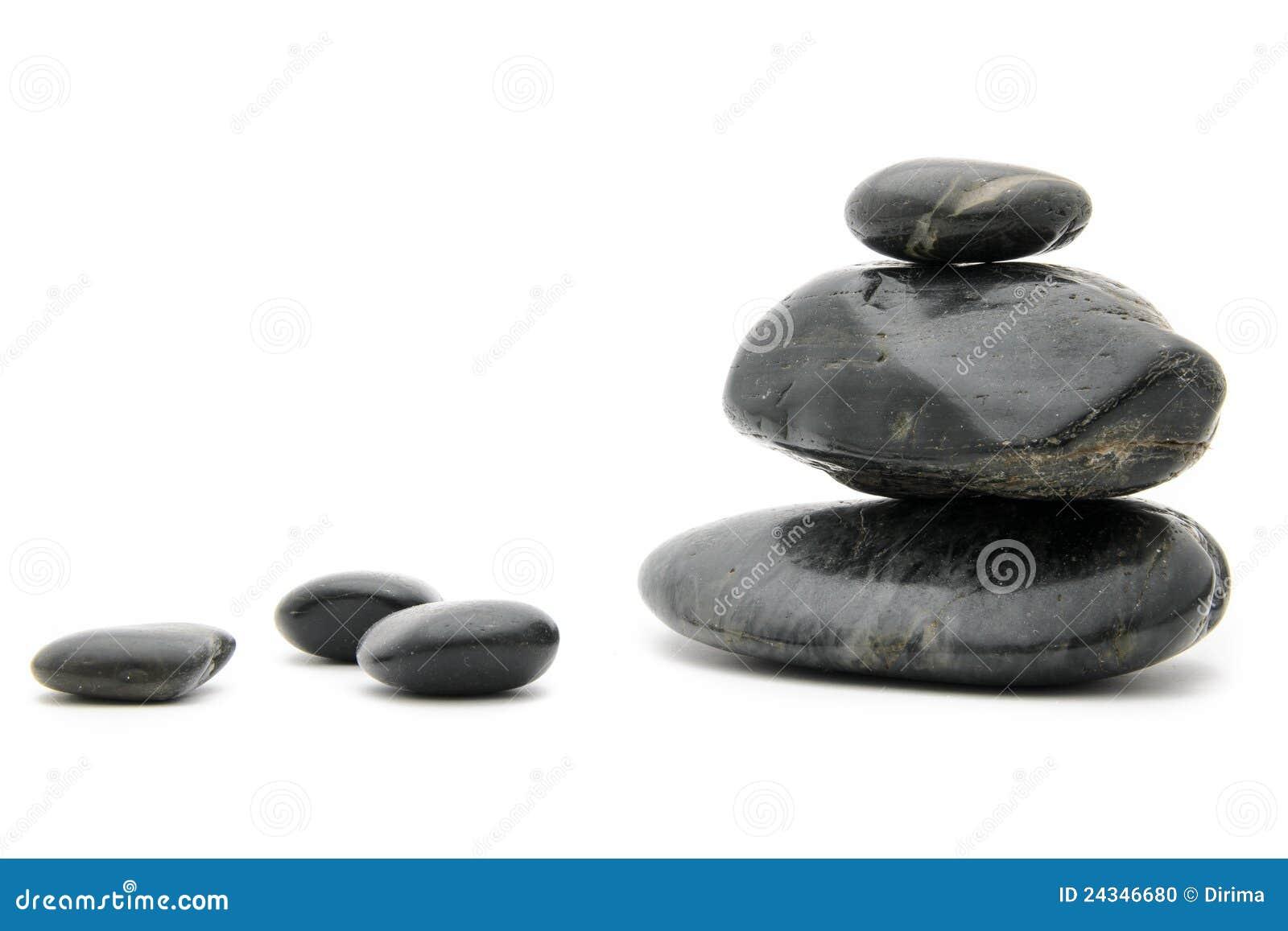 feng shui schwarze steine stockfoto bild 24346680. Black Bedroom Furniture Sets. Home Design Ideas