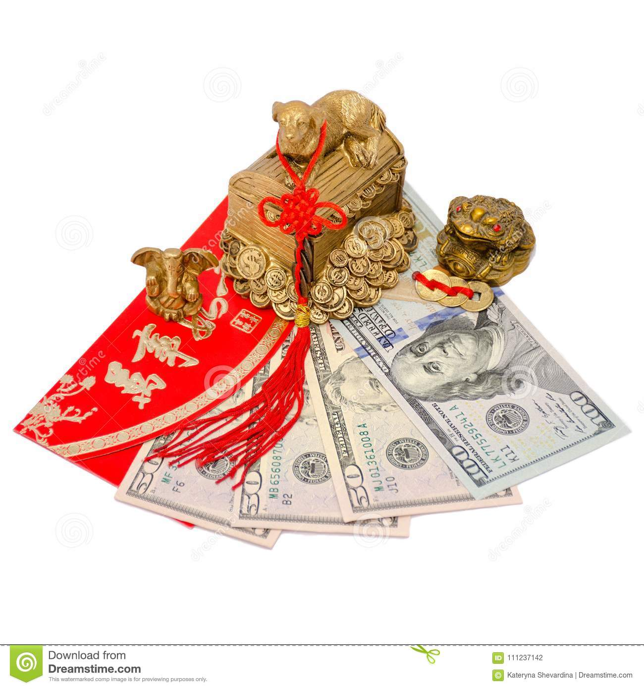Feng Shui talismans attracting money and a successful business