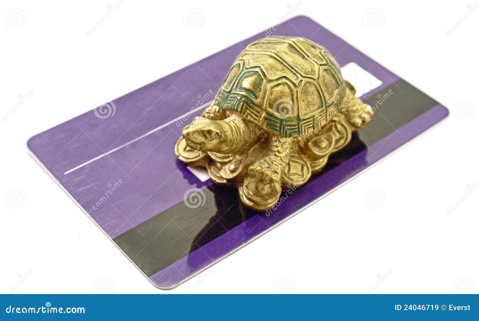 Feng Shui Tortoise Money stock image. Image of luck, gold - 24046719