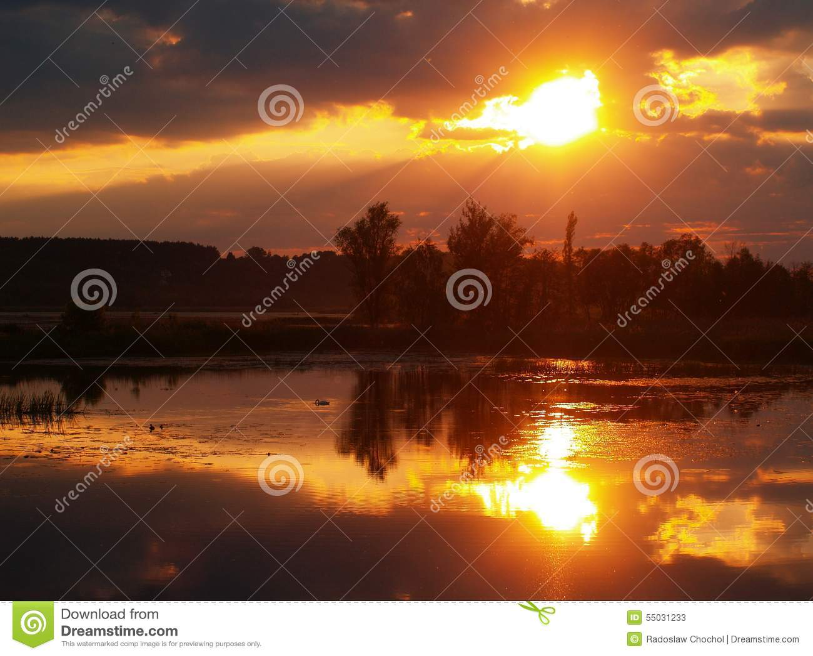 Fenomenal solnedgång