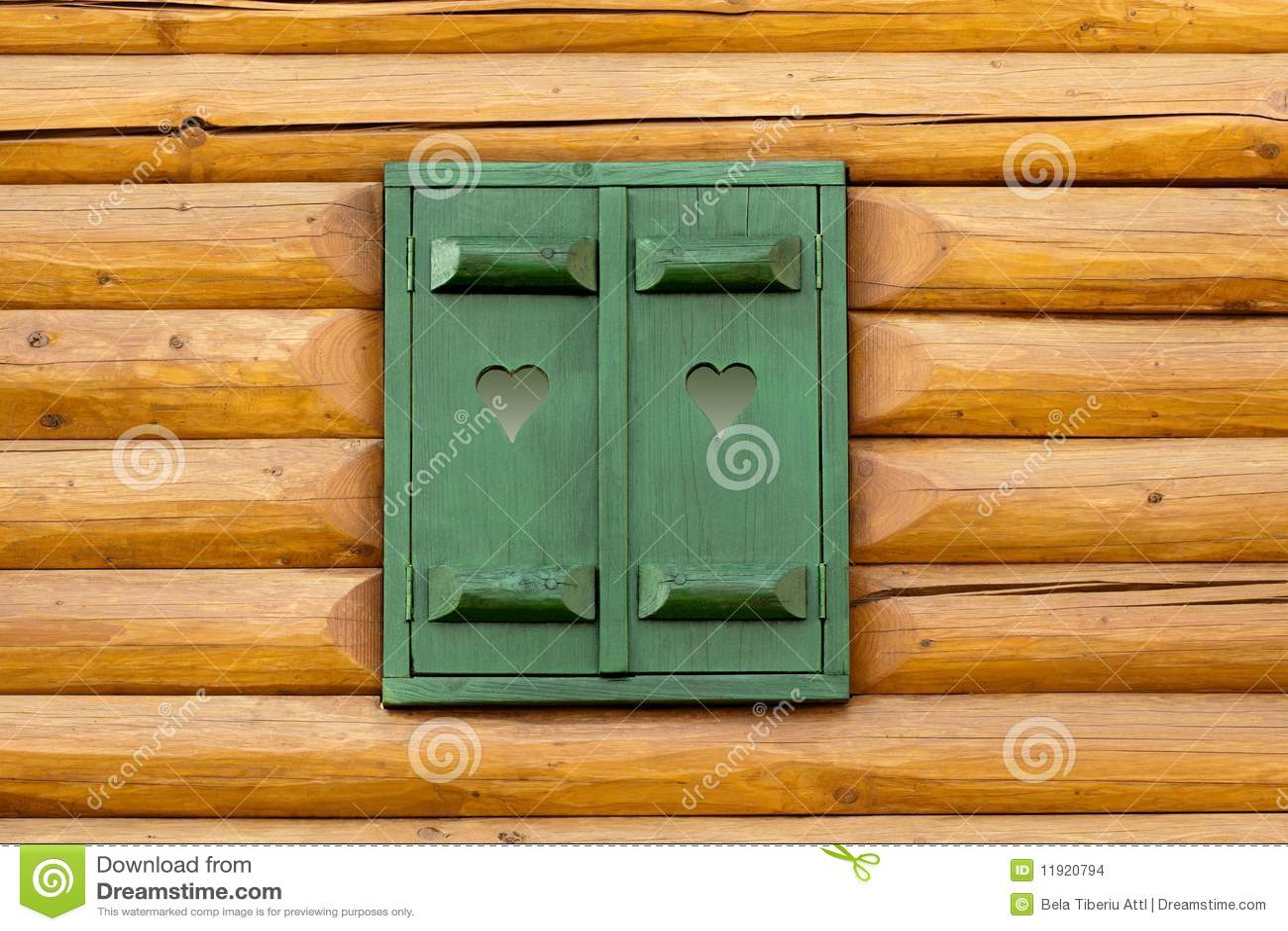 Fenster des grünen Hauses
