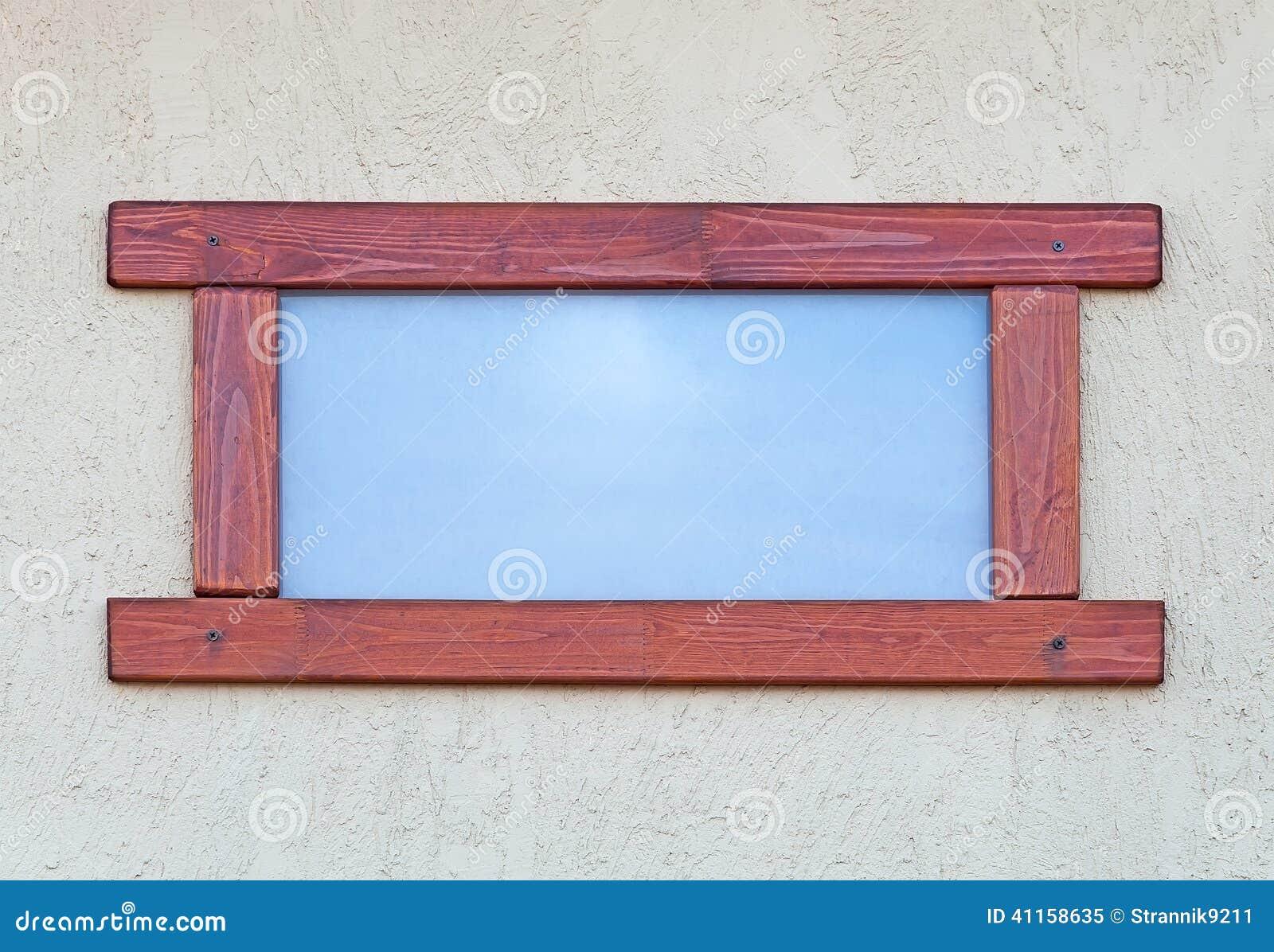 Fenster In Einem Holzrahmen Stockbild - Bild von gebäude ...
