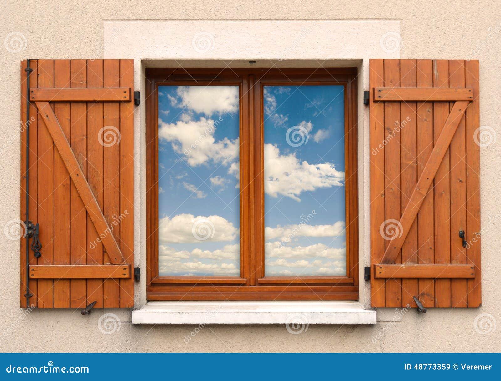 Fenster und fensterl den und himmel stockfoto bild 48773359 - Fenster justieren anleitung mit bildern ...