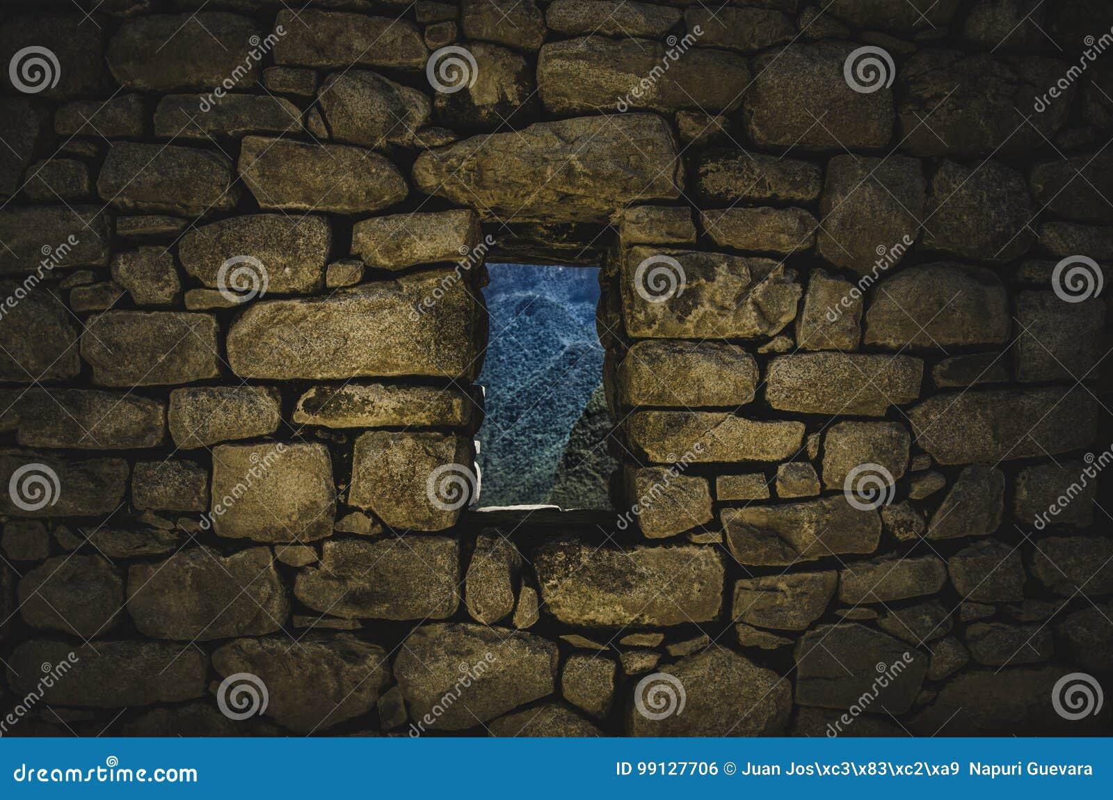 Fenster von Machu Picchu
