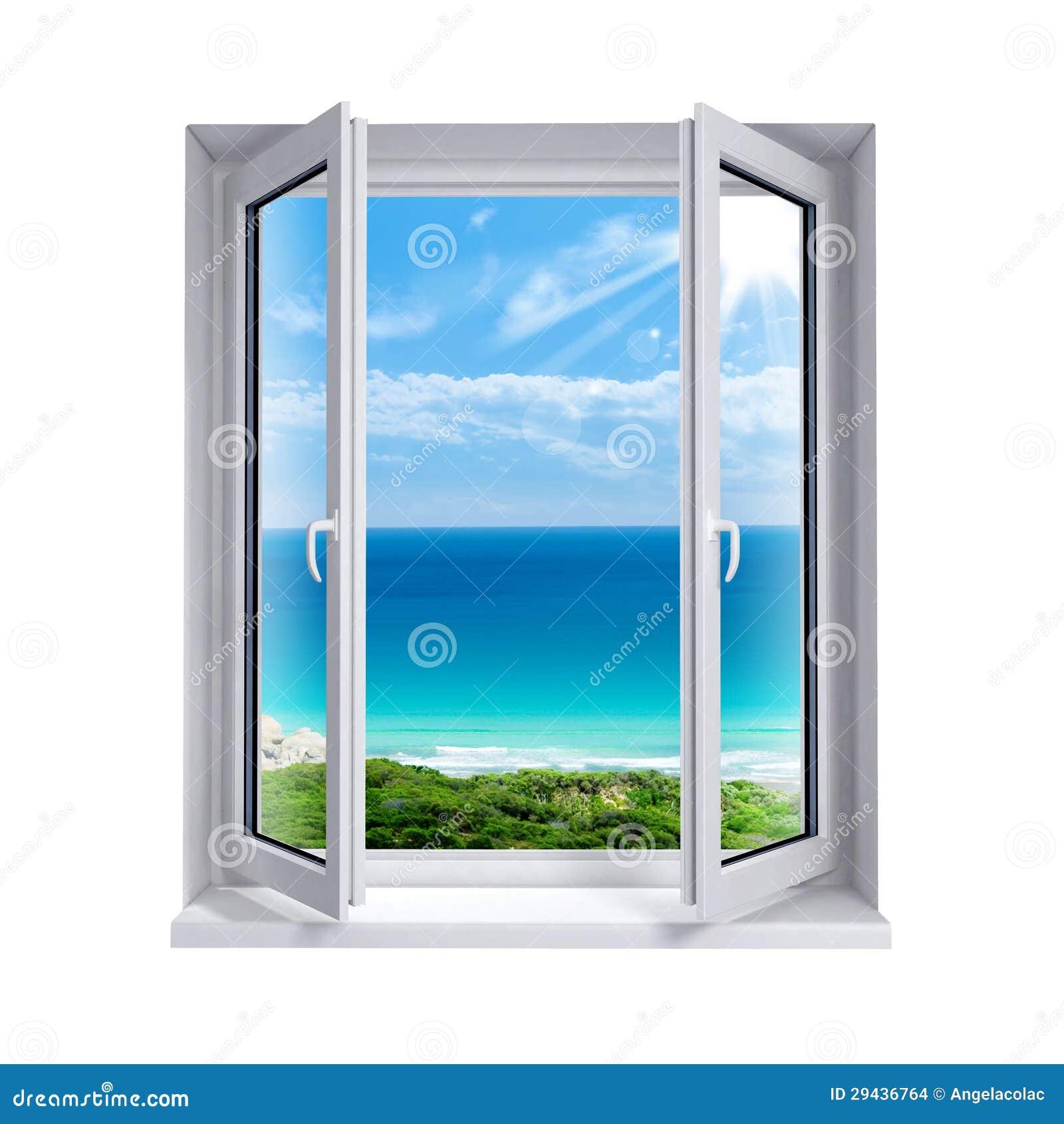 Offenes fenster  Offenes Fenster Zum Meer Stockfoto - Bild: 82772107