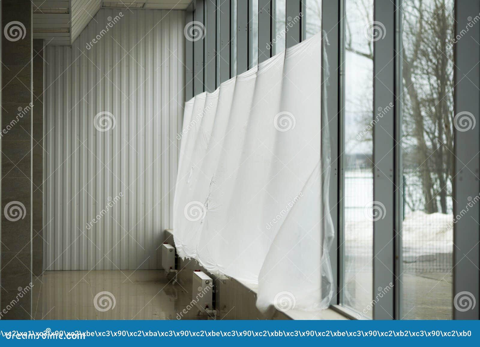 Fensterdekoration Von Balkonen Stockfoto Bild Von Trennvorhang