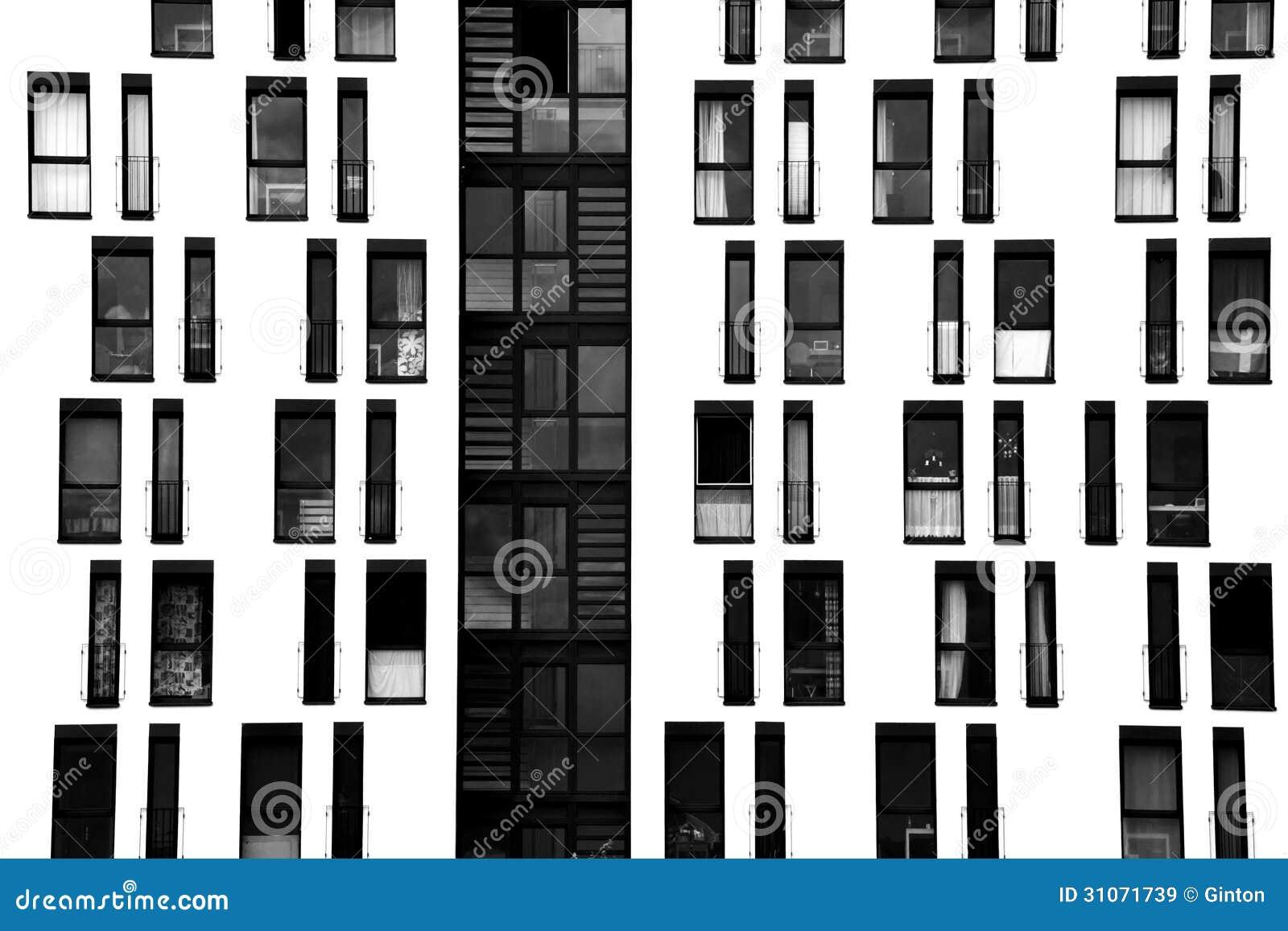 Moderne fenster fassade  Fensterfassade Lizenzfreie Stockbilder - Bild: 31071739