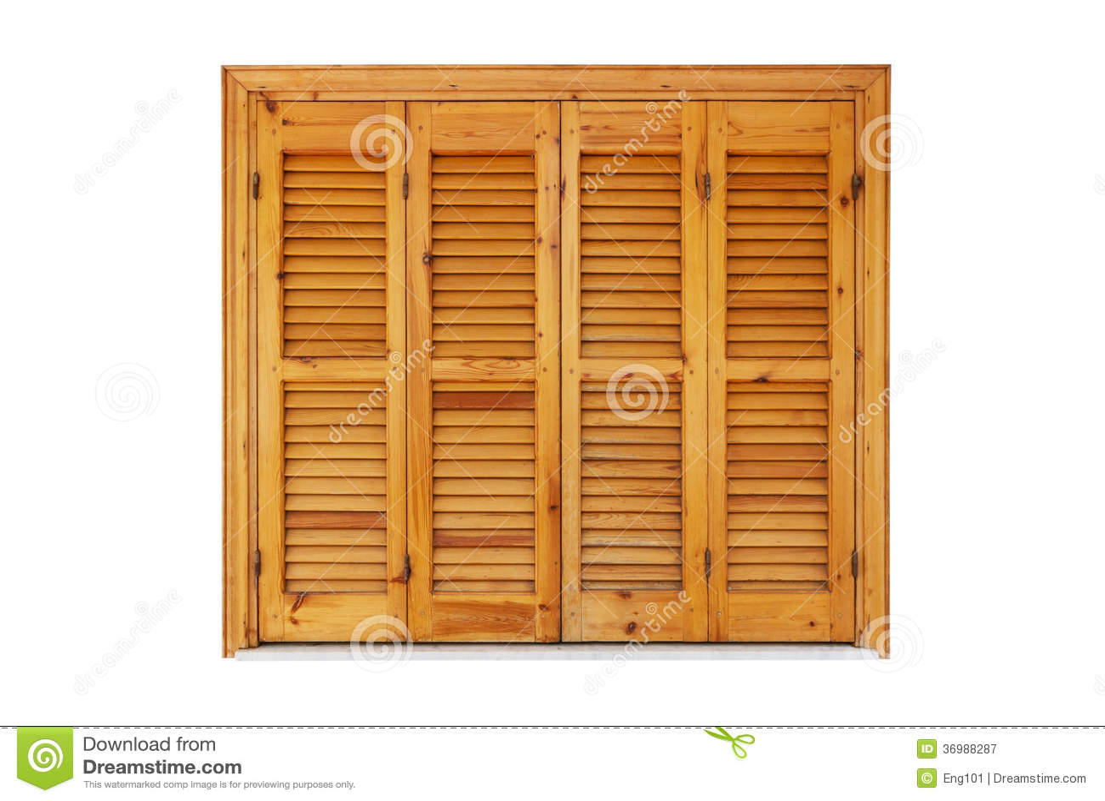 Fen tre en bois avec des volets ferm s photographie stock for Bois de fenetre