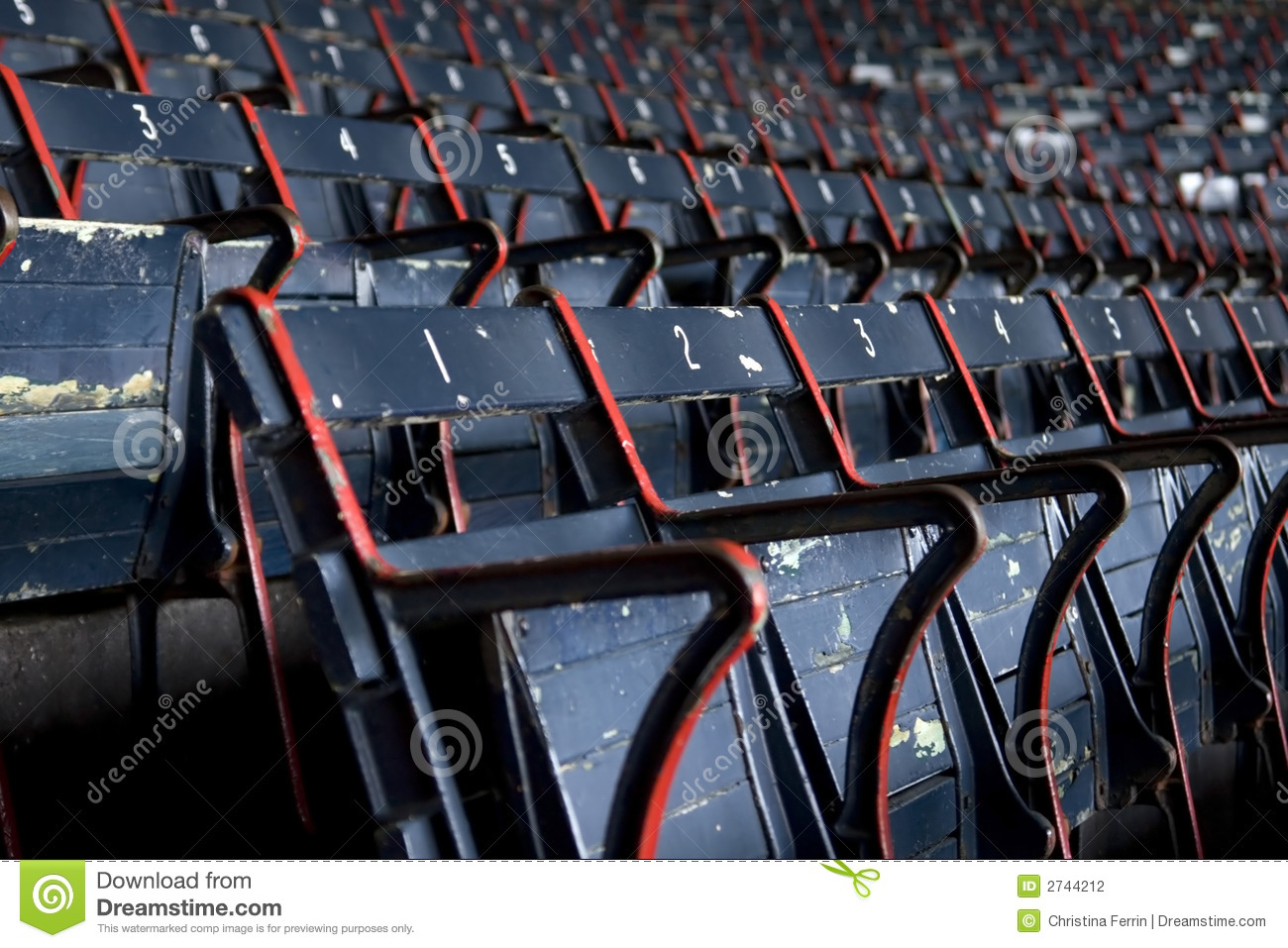fenway stadium seats stock photography