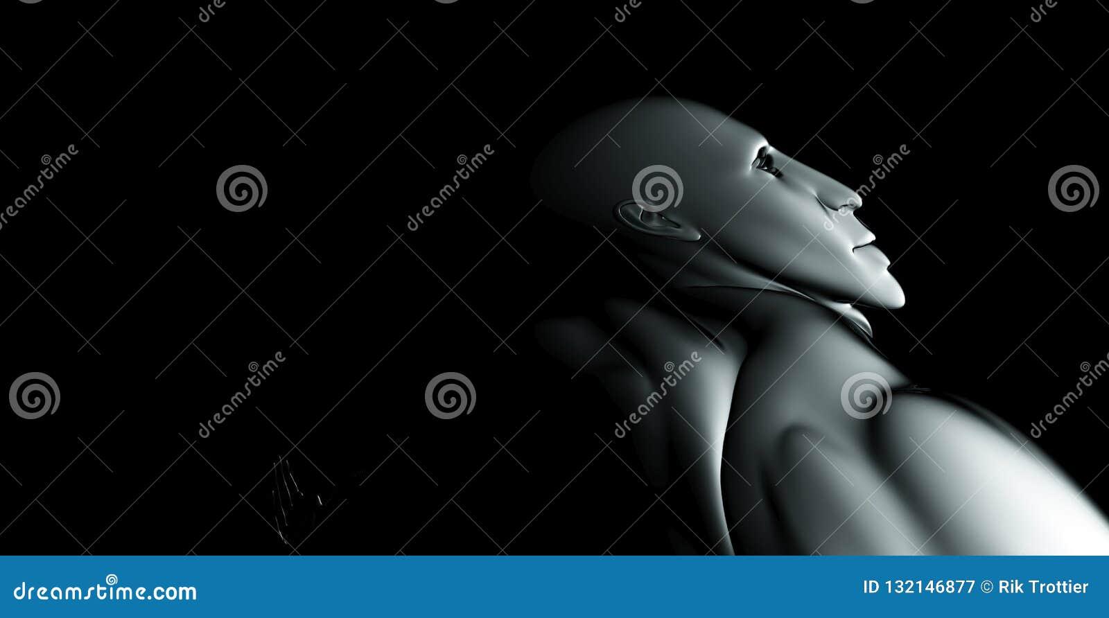 Fer abstrait d homme