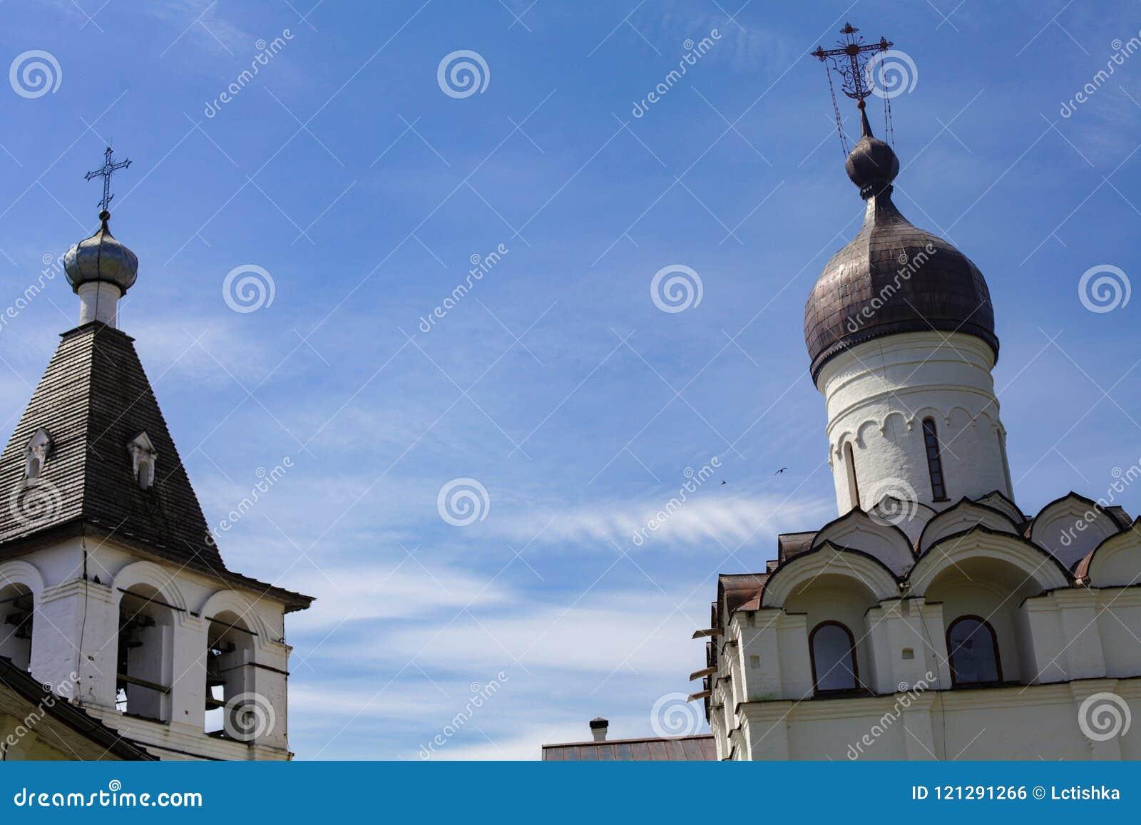 Ferapontovo, em julho de 2018 monastery vistas muito bonitas ao redor
