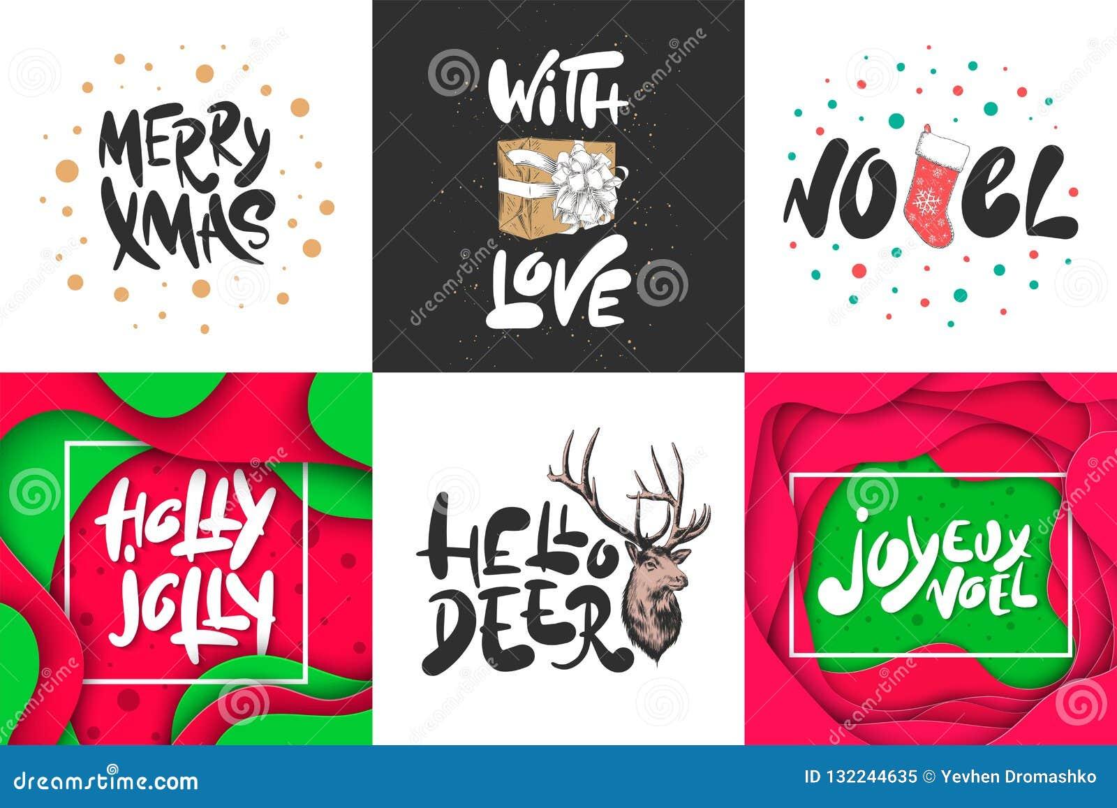Feriado Do Natal Do Grupo Do Esboco E Do Ano Novo Desenho