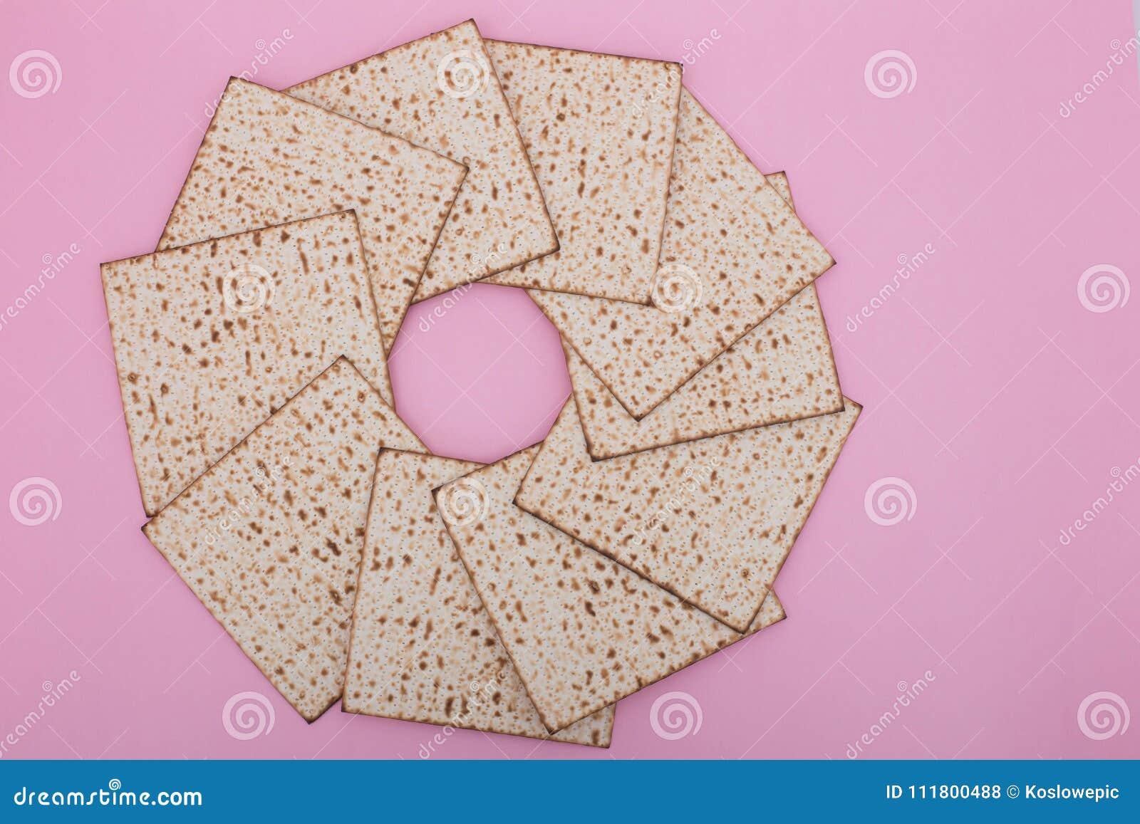 Ferie Nisan för lekmanna- rosa pesach för lägenhet för design för mandala för påskhögtidbakgrundsMatzah judisk