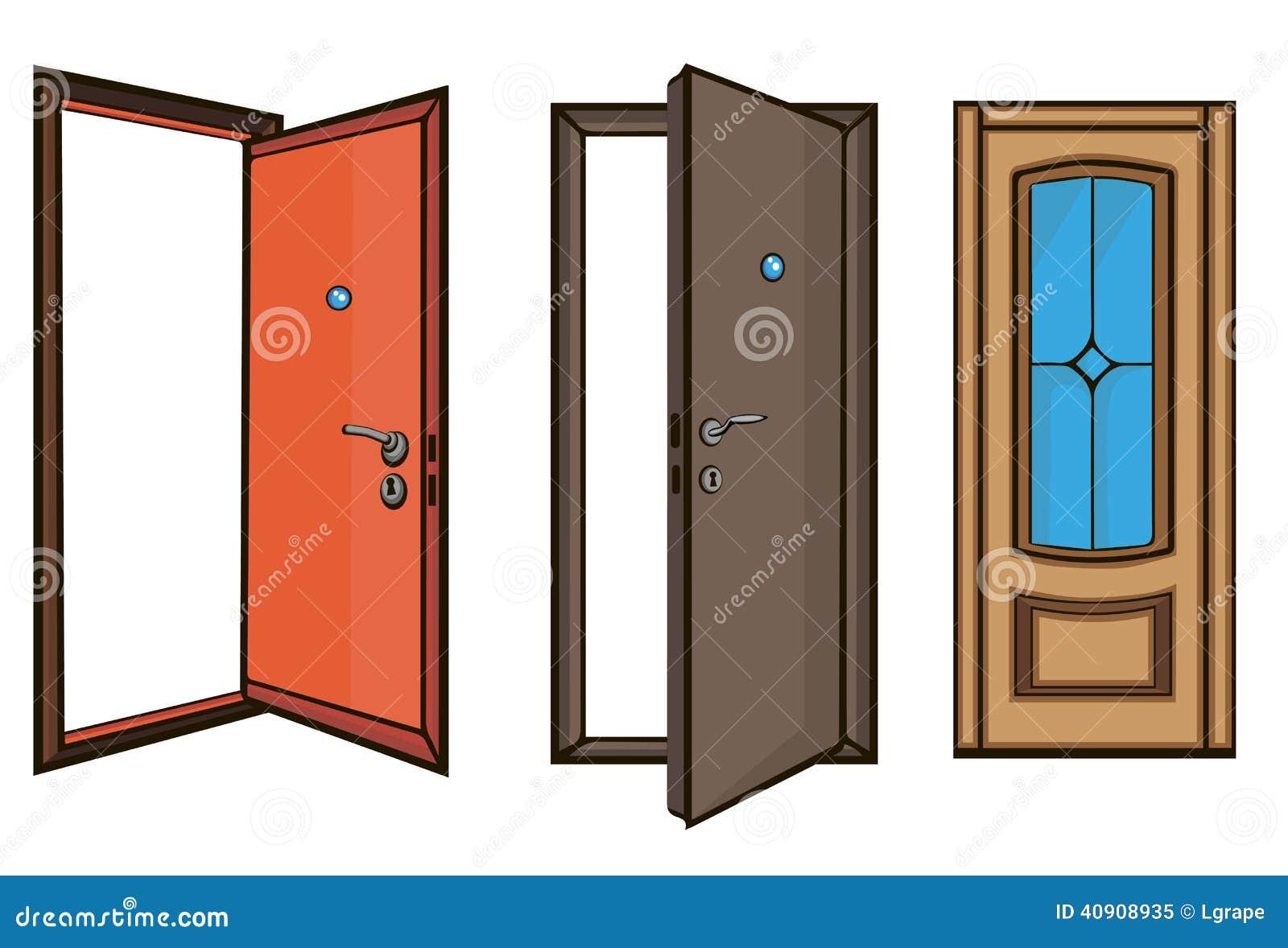 Ferm et portes ouvertes type de dessin anim illustration for Porte ouverte