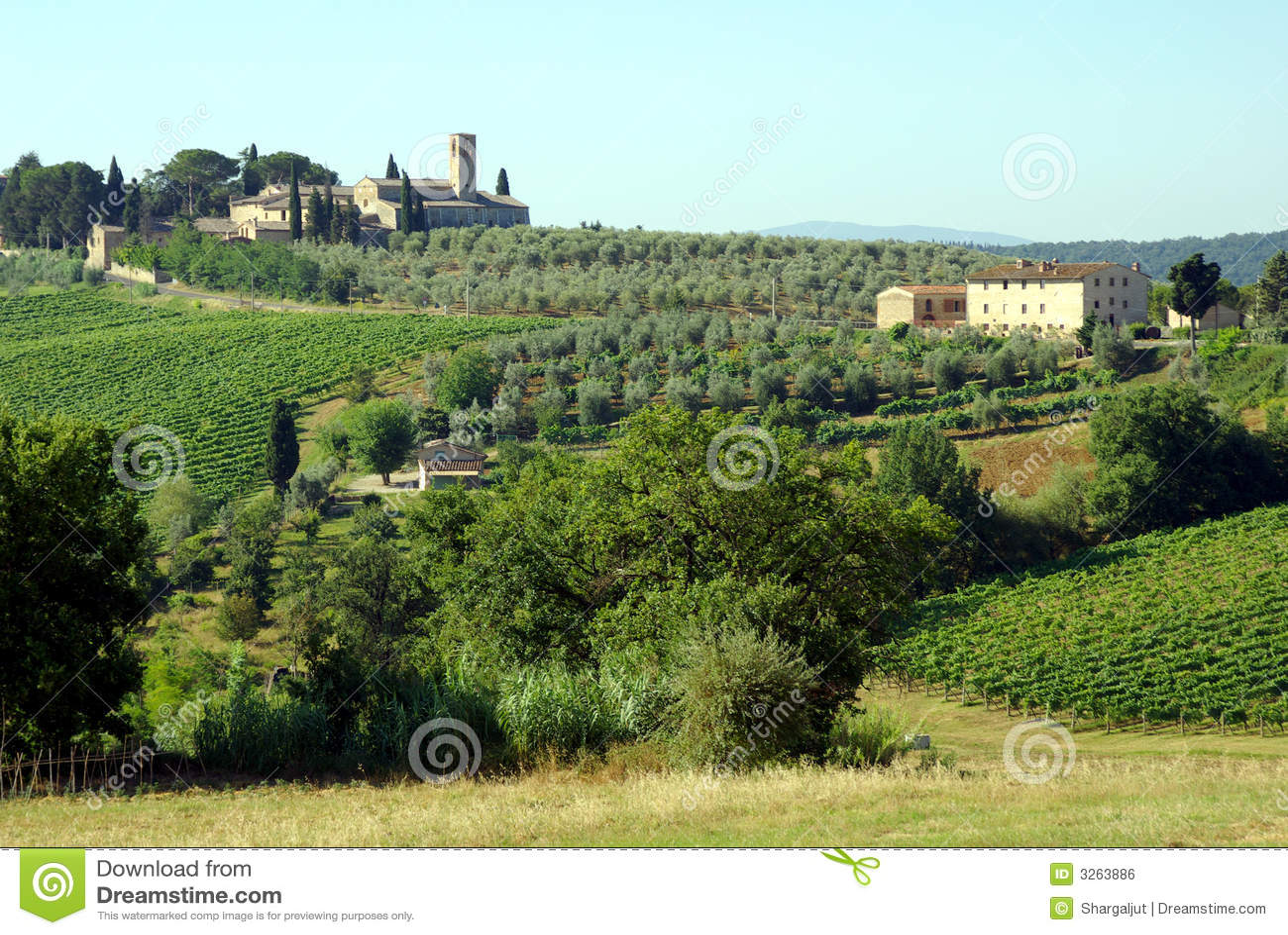 Fermes en Toscane, Italie