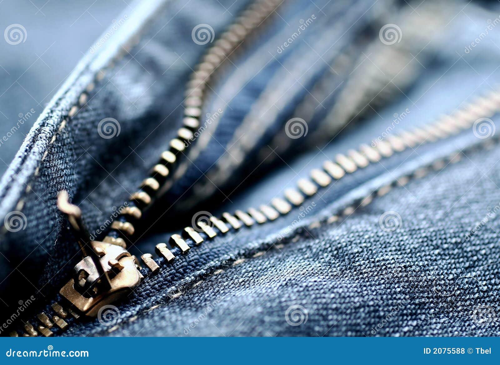 Fermeture éclair de jeans