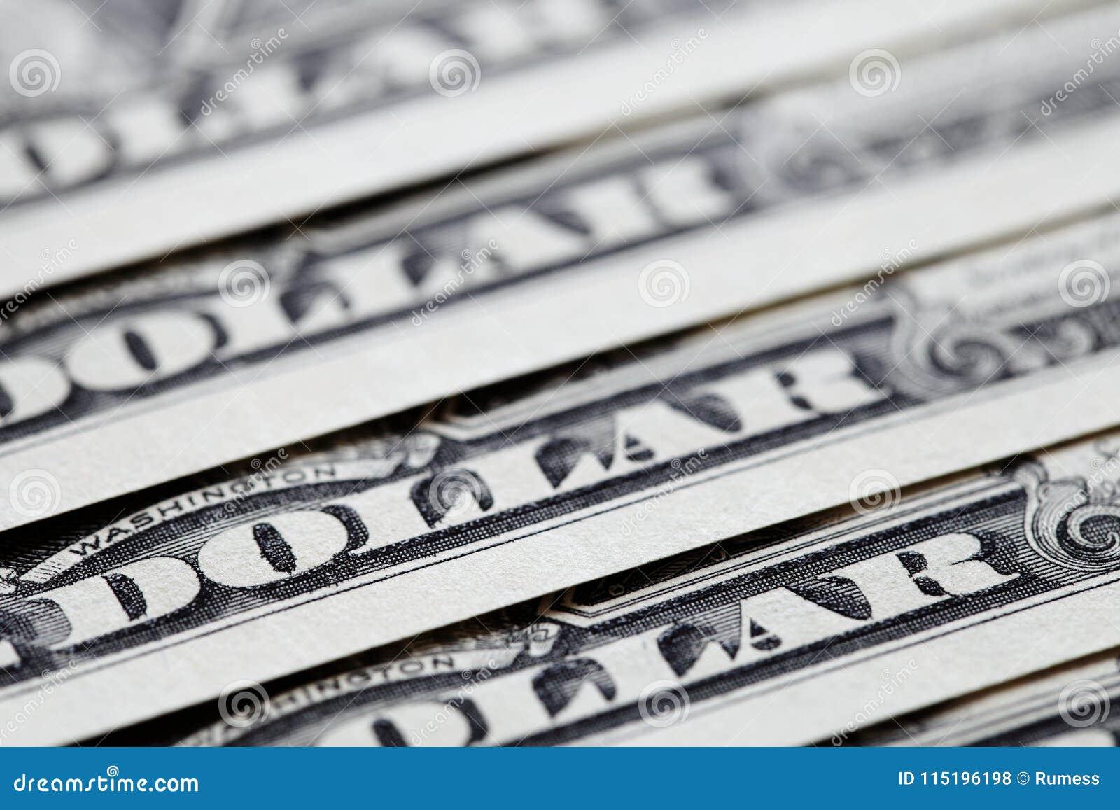 Fermez des USA les billets d un dollar un Un fond de billets de banque du dollar