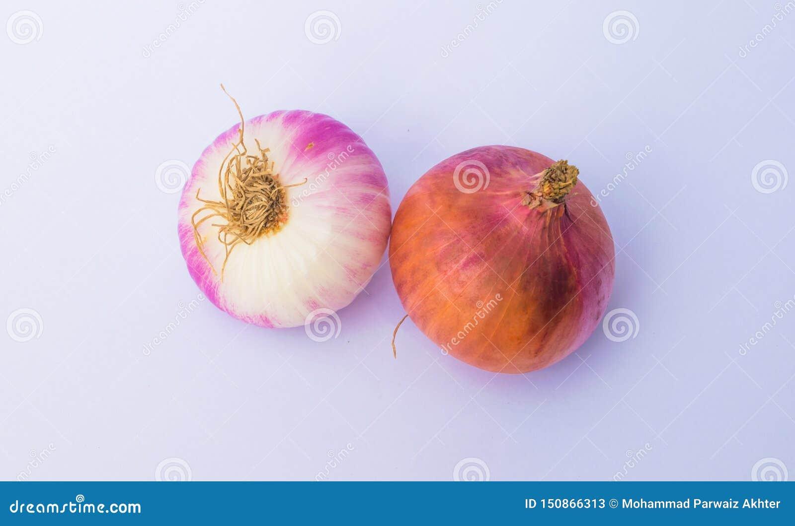 Fermez-vous de deux ampoules fraîches d oignon