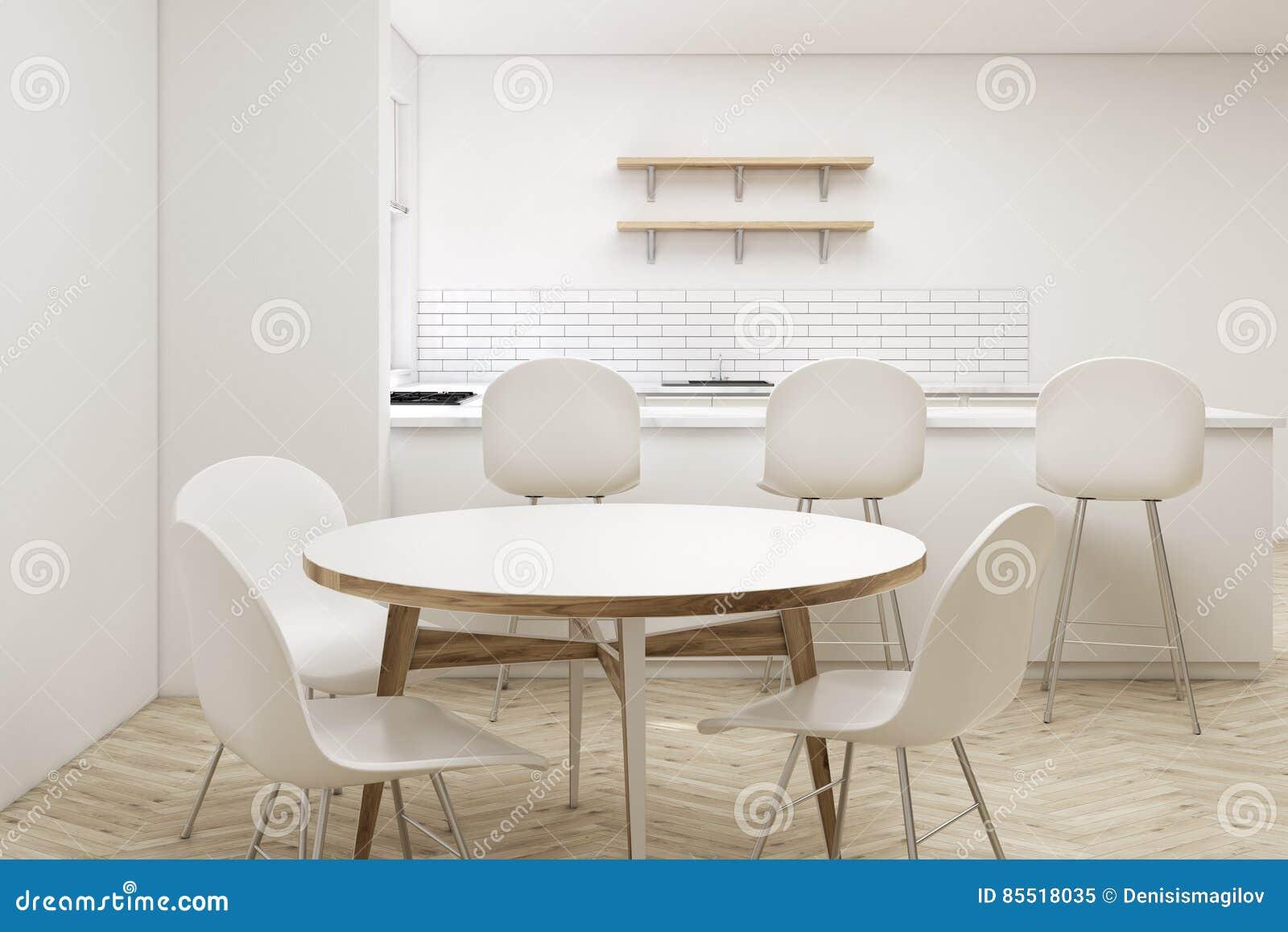Fermez Vous De La Table De Cuisine Ronde Illustration Stock