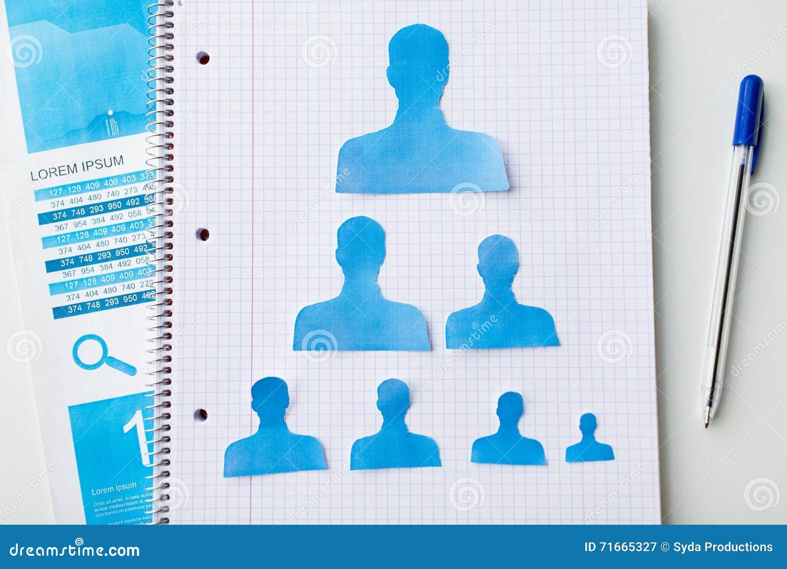 fermez vous des formes humaines de papier sur le carnet photo stock image 71665327. Black Bedroom Furniture Sets. Home Design Ideas