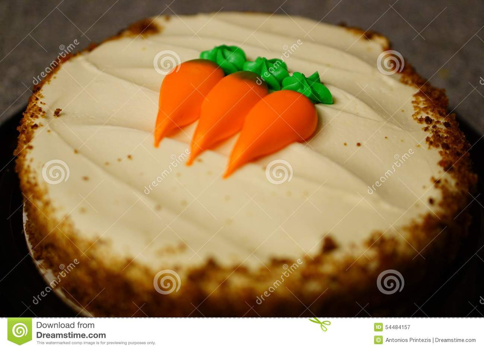 Fermez-vous du gâteau à la carotte sur le compteur