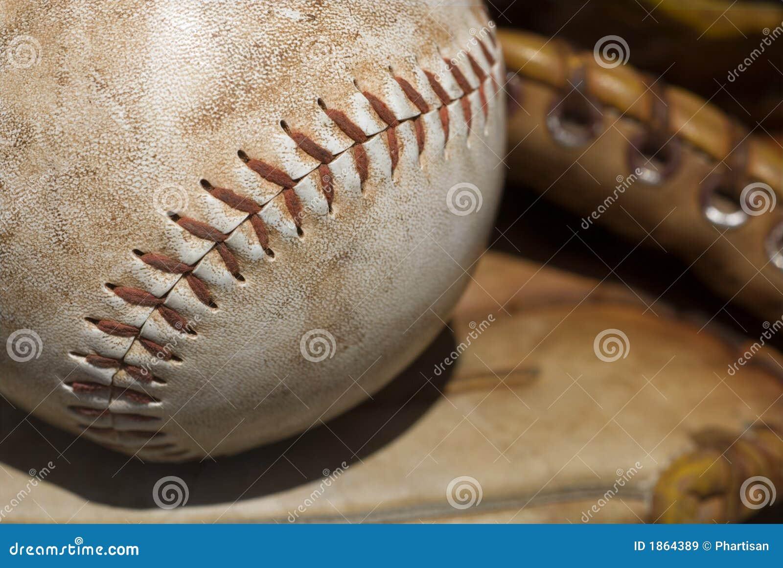 Fermez-vous vers le haut d un base-ball