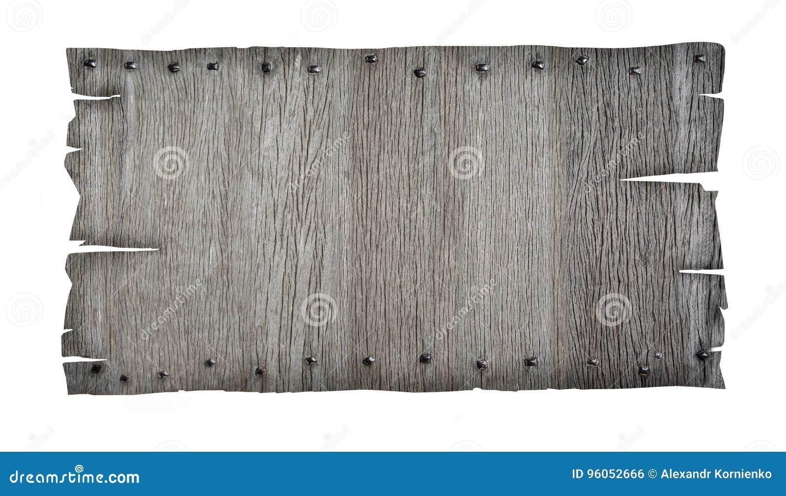 Fermez-vous vers le haut d un signe en bois vide