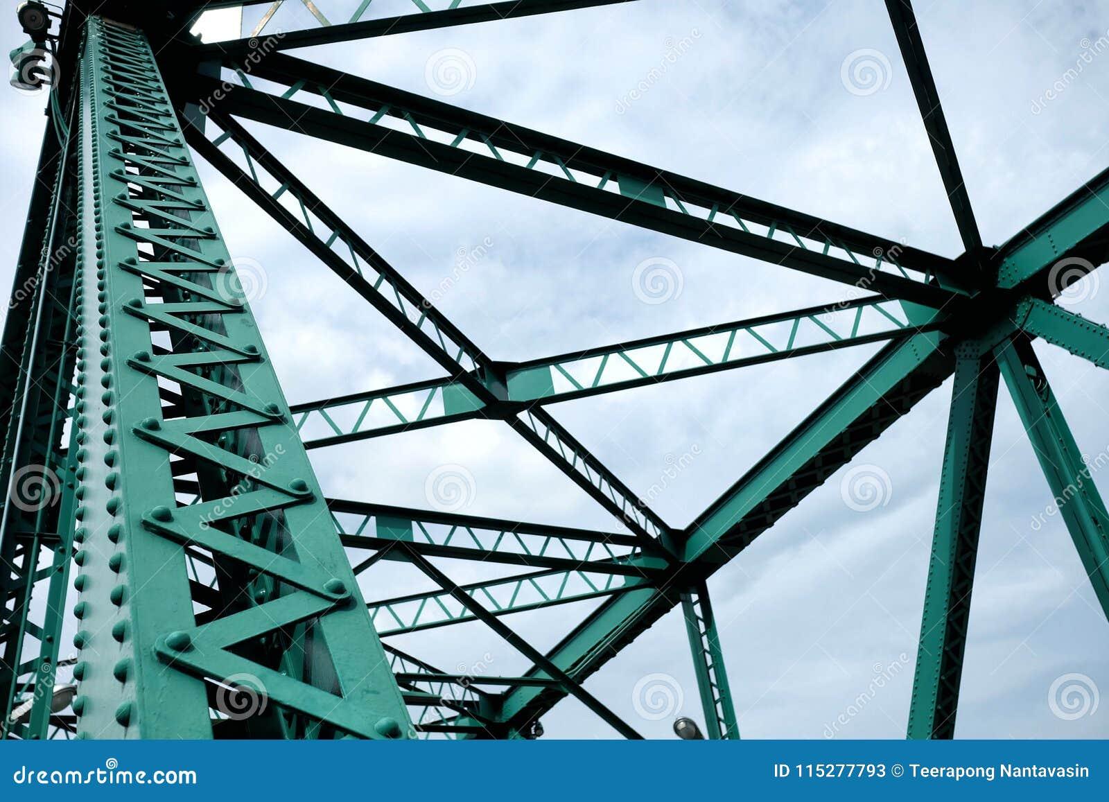 Fermez-vous vers le haut des poutres de pont de pont commémoratif