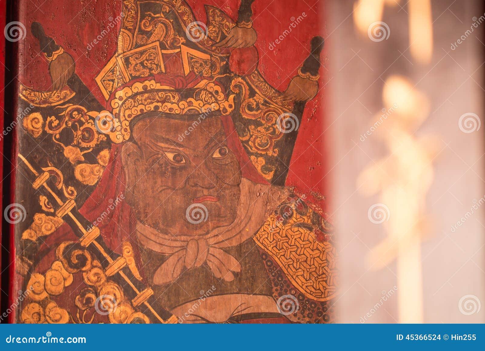 Fermez-vous vers le haut du type traditionnel de porte de temple