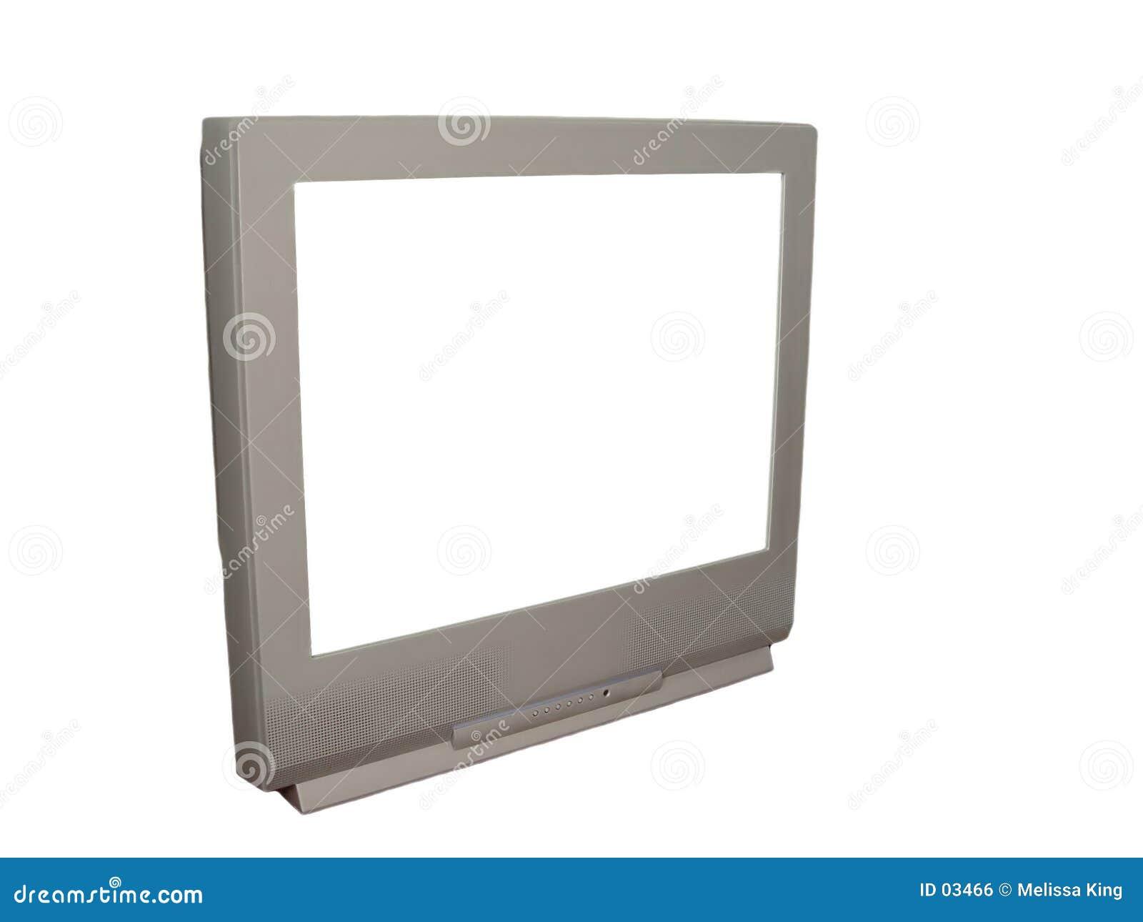 Fernsehapparat mit weißem Bildschirm