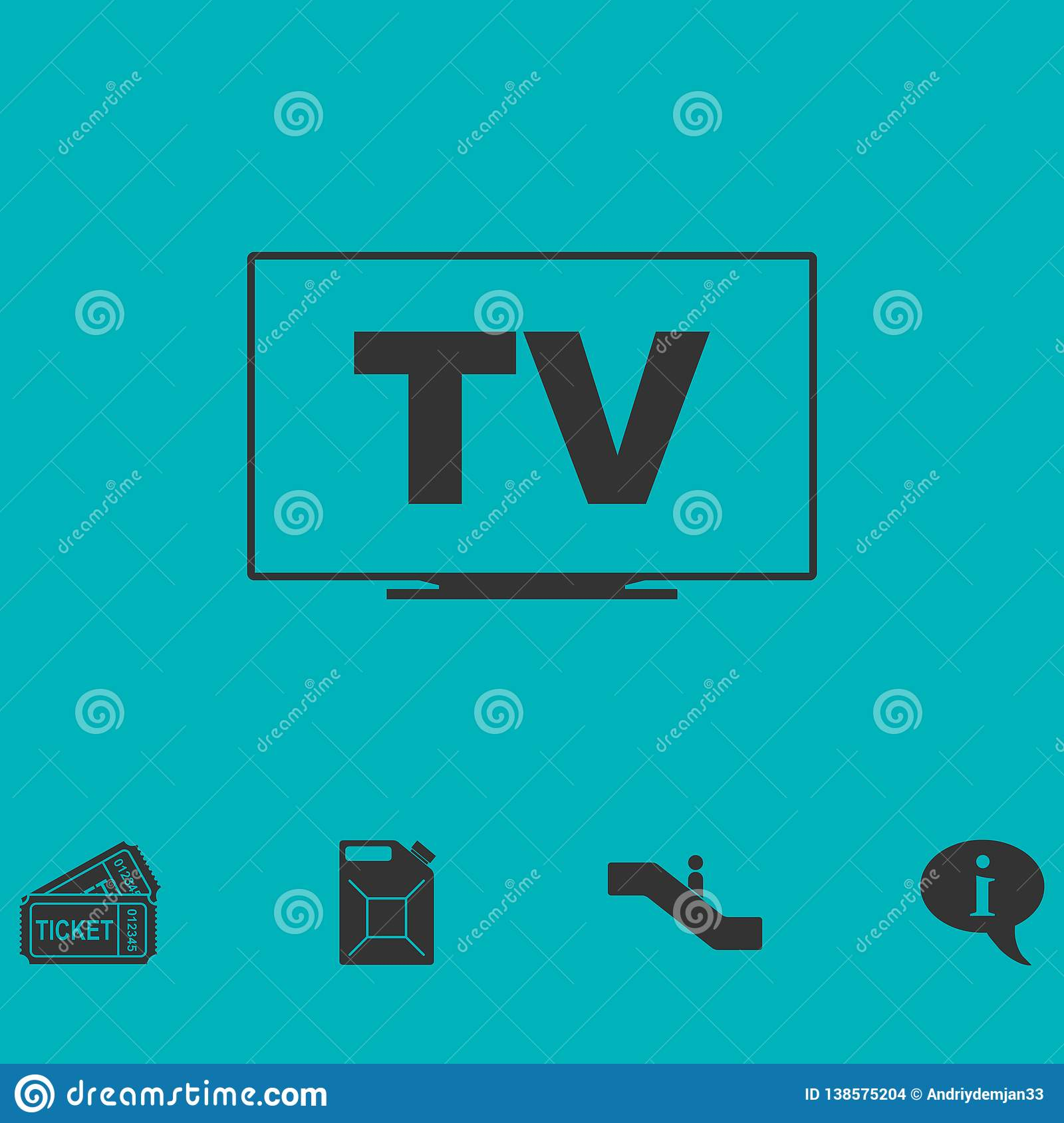 Fernsehikone flach